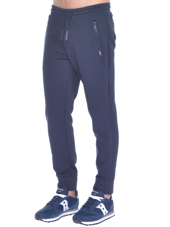 Pantalone Blu Scuro Emporio Armani In Felpa Uomo P8nwkX0NO
