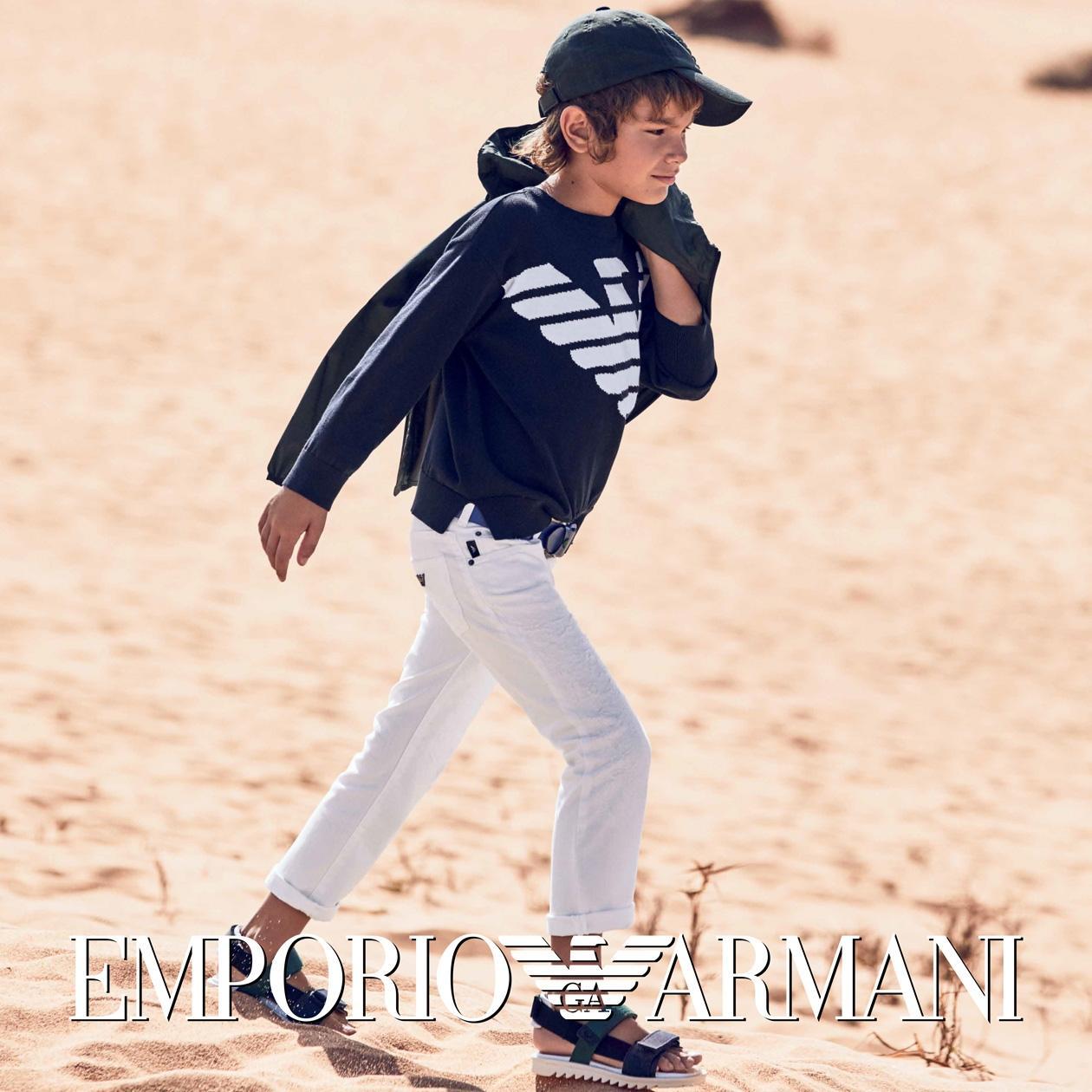 idee outfit estivi per bambini Emporio Armani