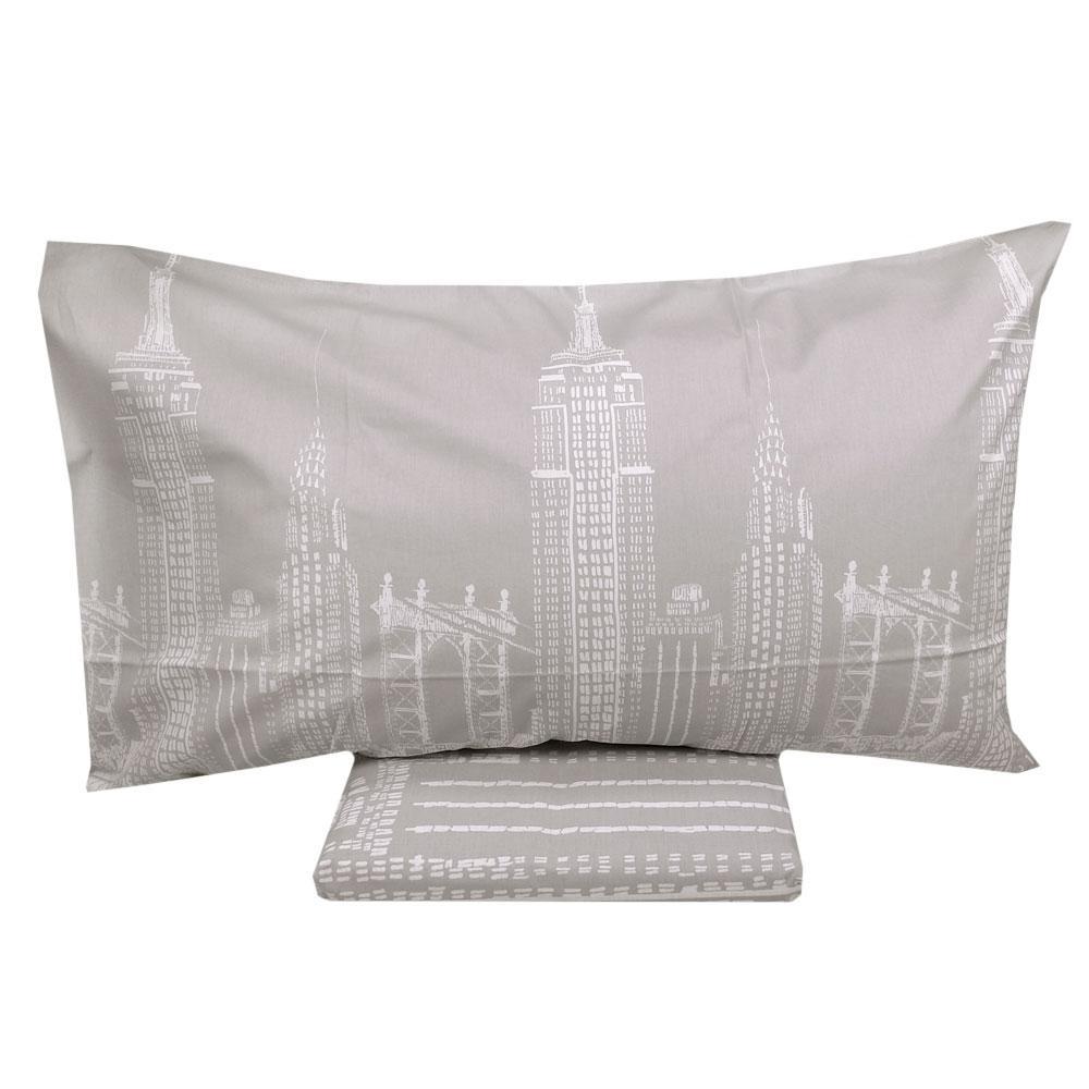 Copripiumino Vallesusa.Duvet Cover And Pillowcase 2 Squares Vallesusa Skyline Gray