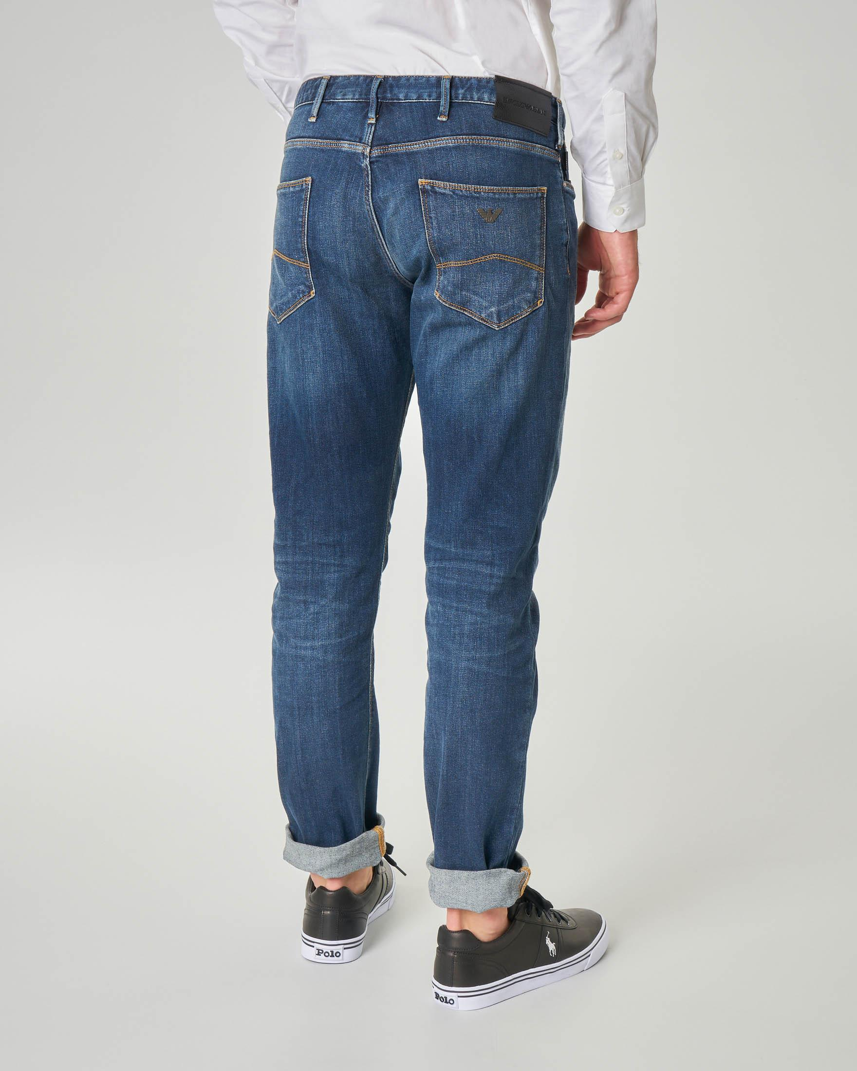 Jeans J06 slim-fit lavaggio stone wash