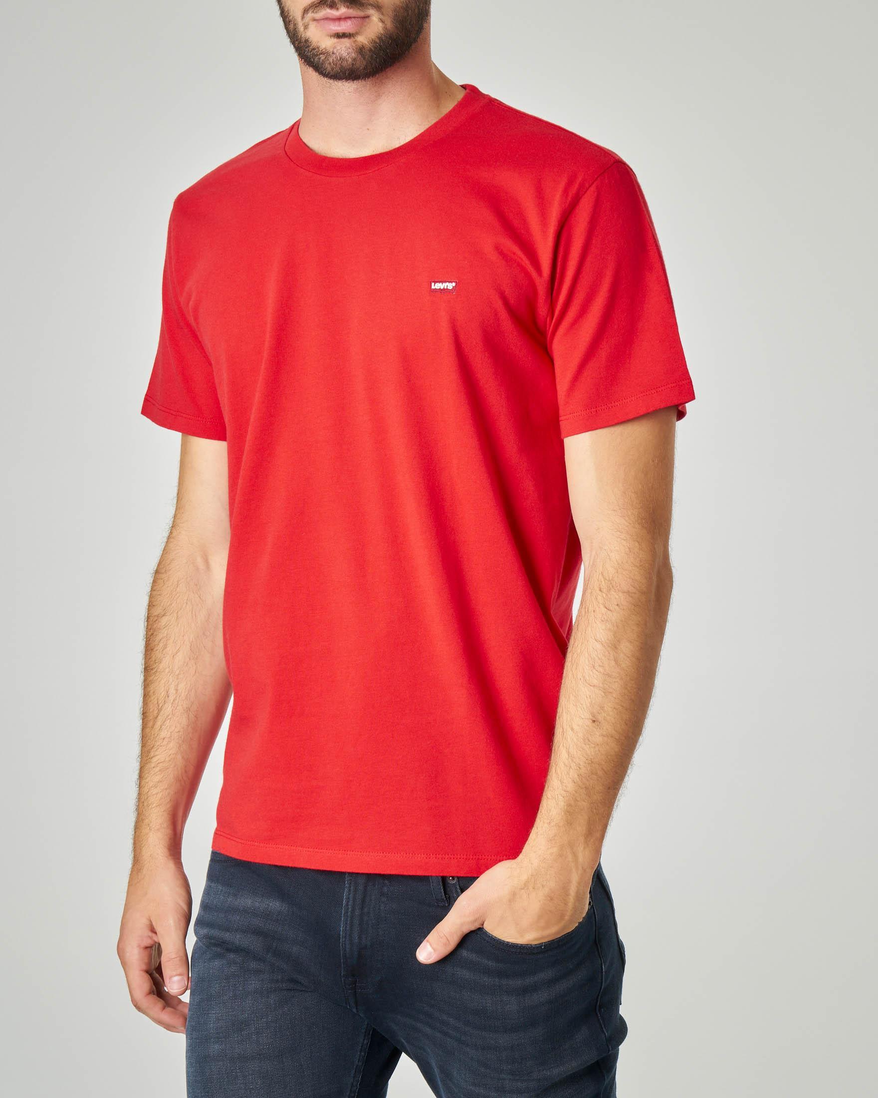 T-shirt rossa con logo batwing piccolo