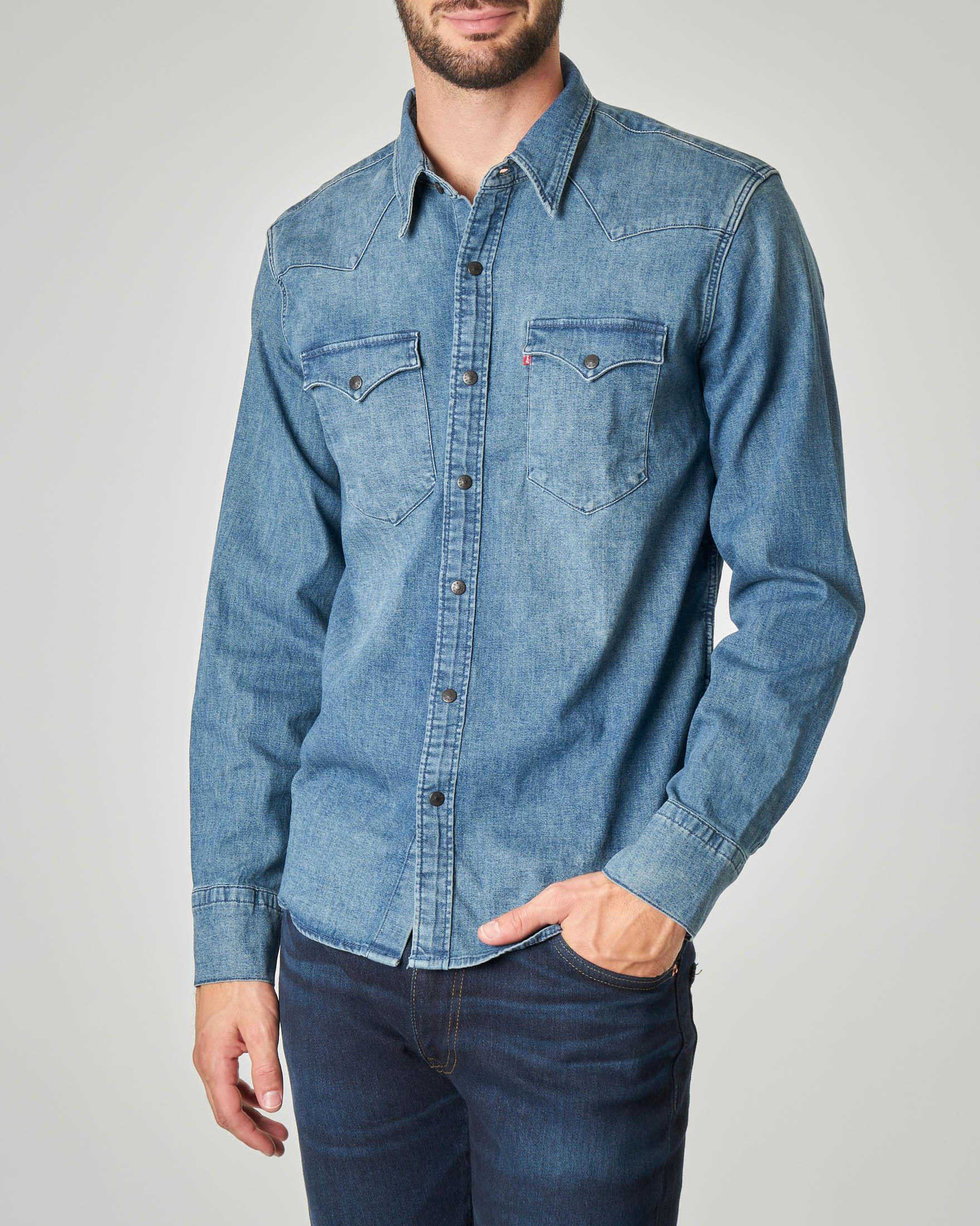 Camicia in denim modello Western