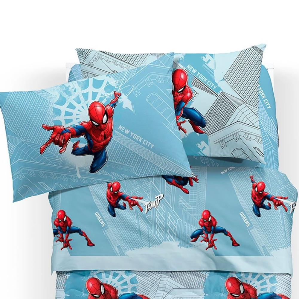 Lenzuola Matrimoniali Marvel.Spiderman Manhattan Lenzuola Letto Singolo Marvel Caleffi