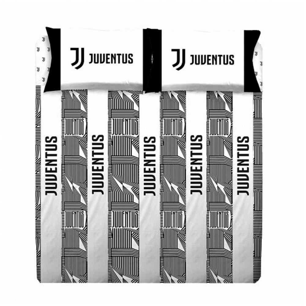 Piumone Juventus Matrimoniale.Set Juventus White And Black Double Bed Sheets Official Product Juve
