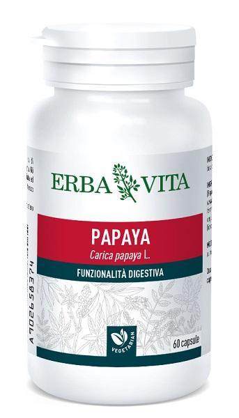 PAPAYA - INTEGRATORE FUNZIONALITA' DIGESTIVA 400 MG 60 CAPSULE ERBAVITA