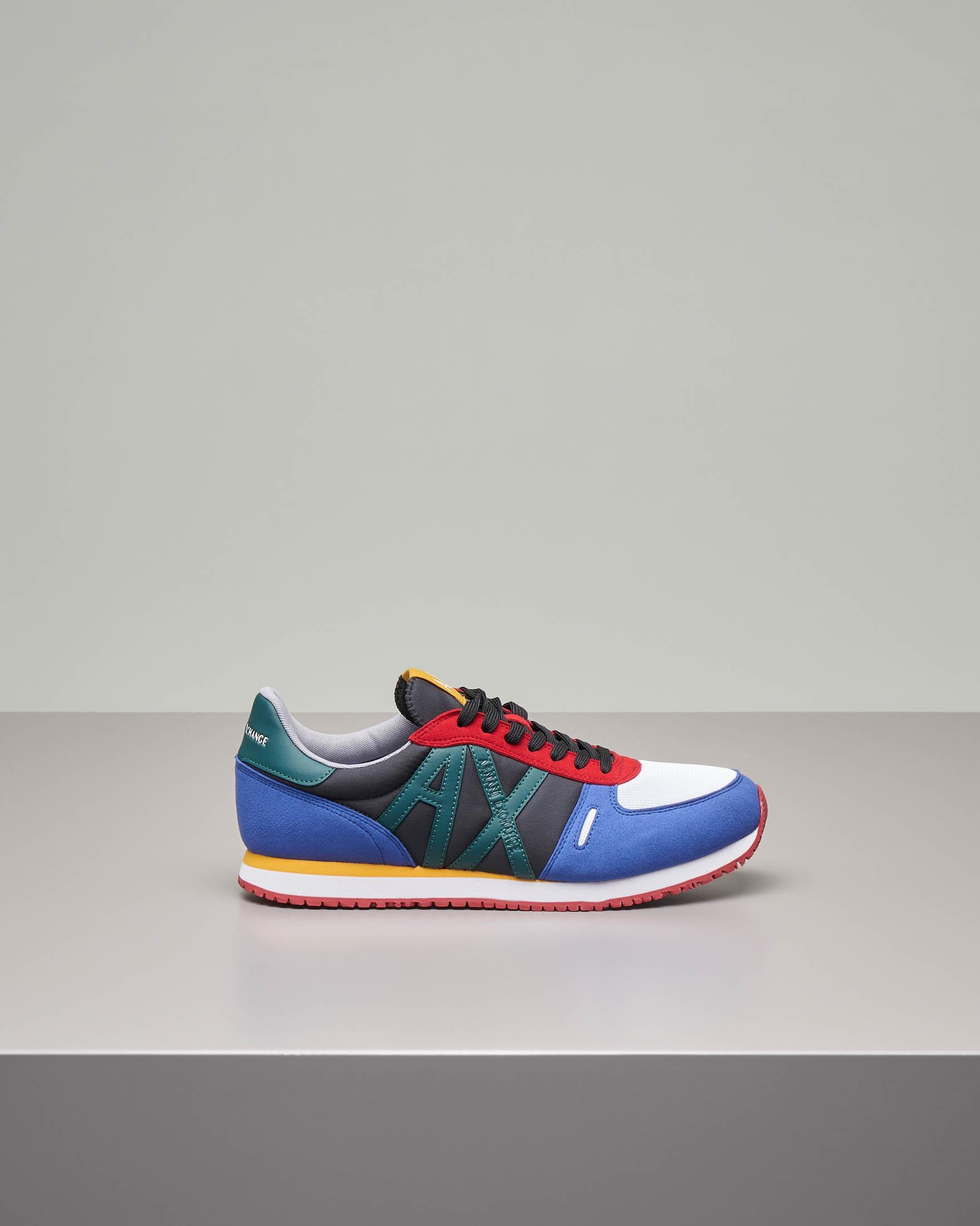 Sneakers multicolor con logo AX