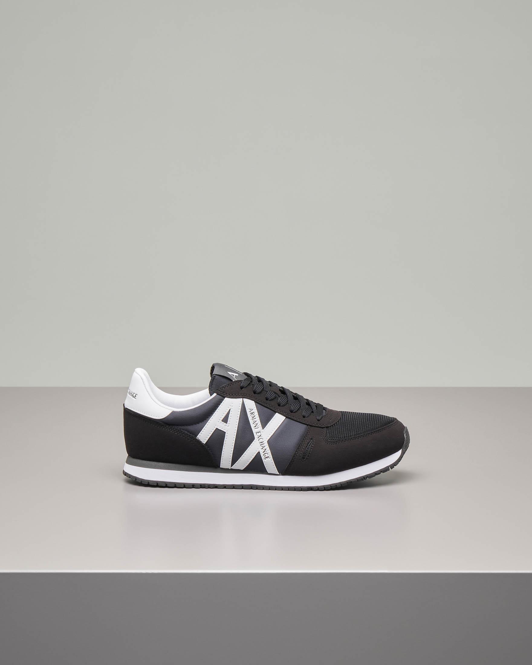 Sneakers nere con logo AX bianco