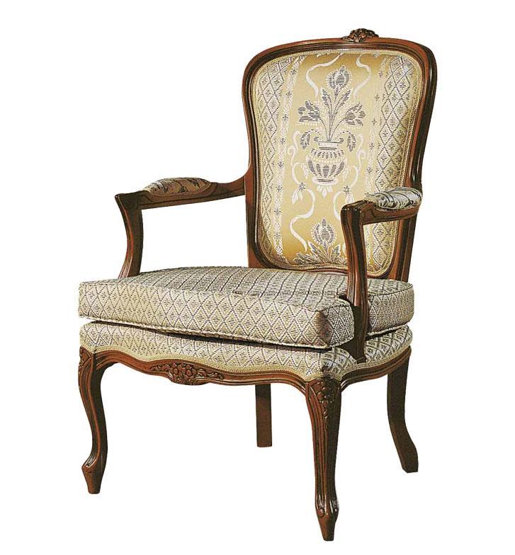 Poltrona Stile Luigi XV con cuscino - Artigiani Veneti Riuniti