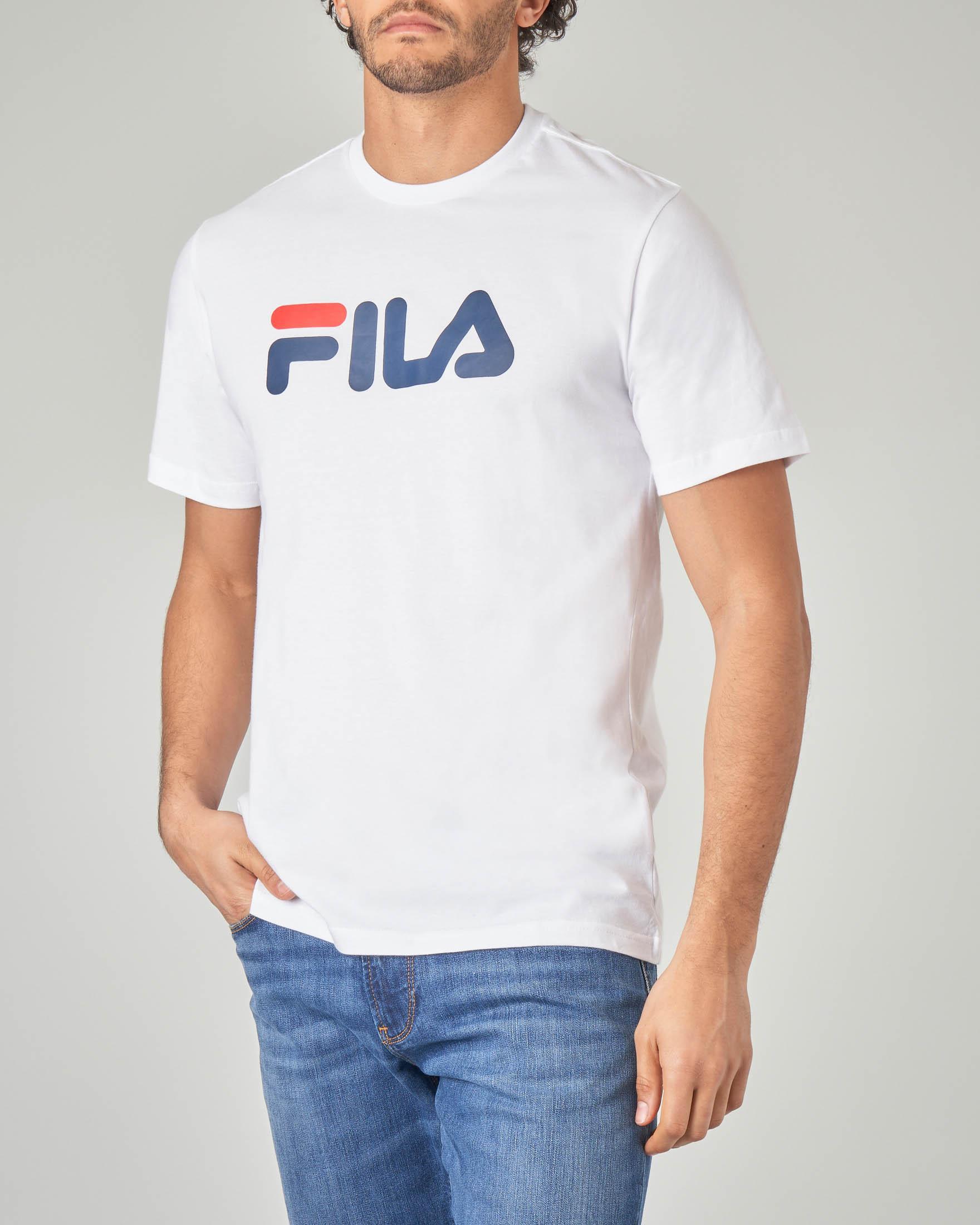 T-shirt bianca con logo Fila