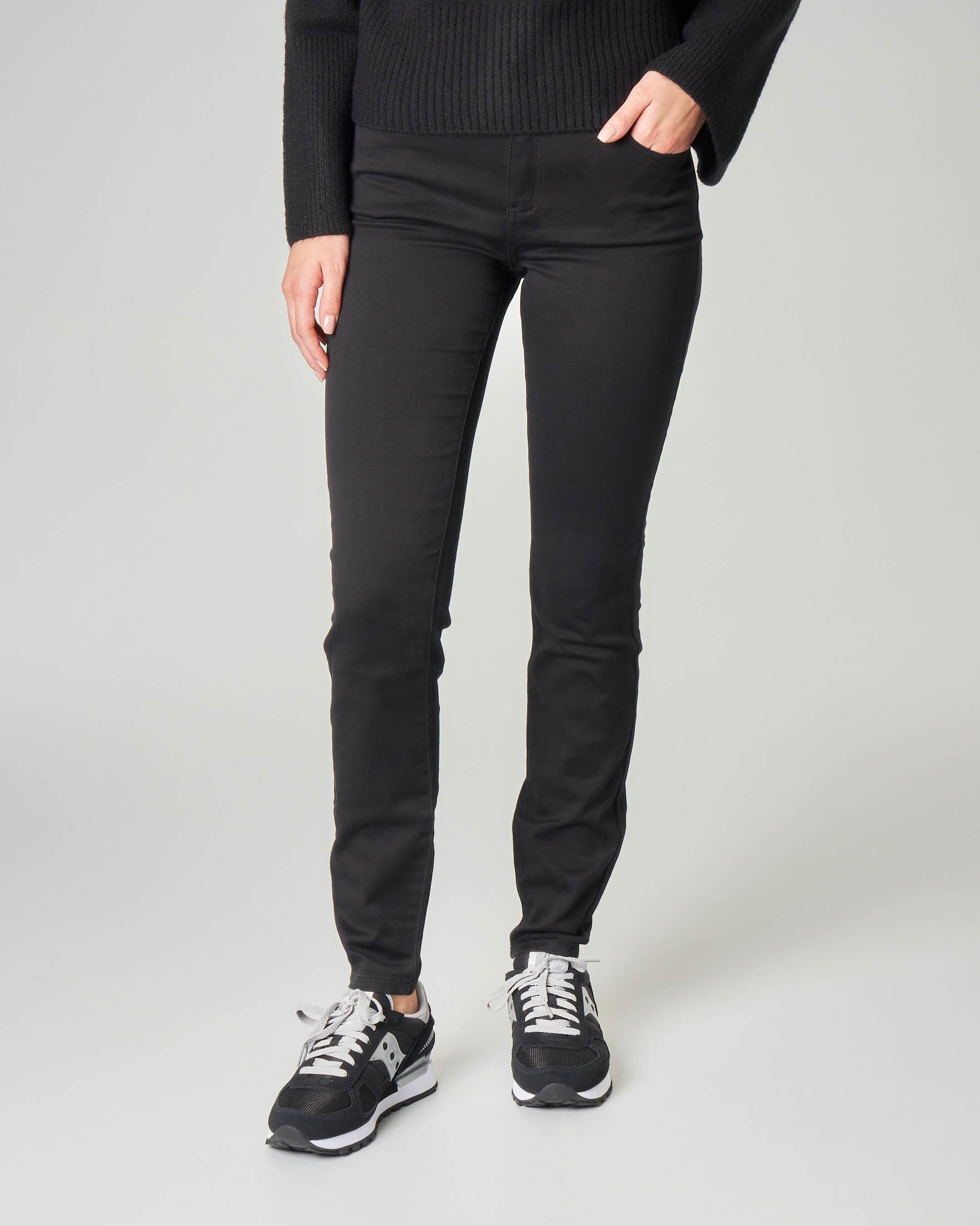 Jeans neri in cotone stuper stretch