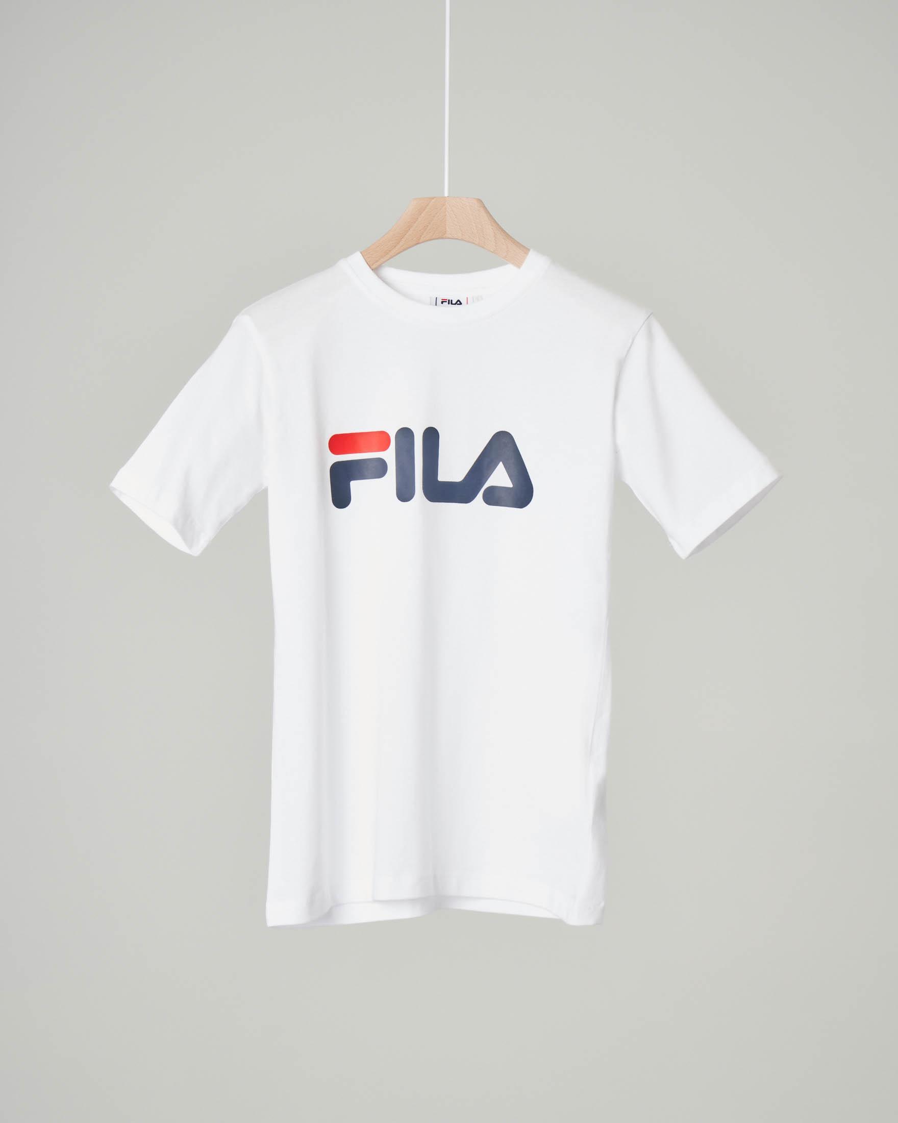 T-shirt bianca con logo Fila 10-16 anni