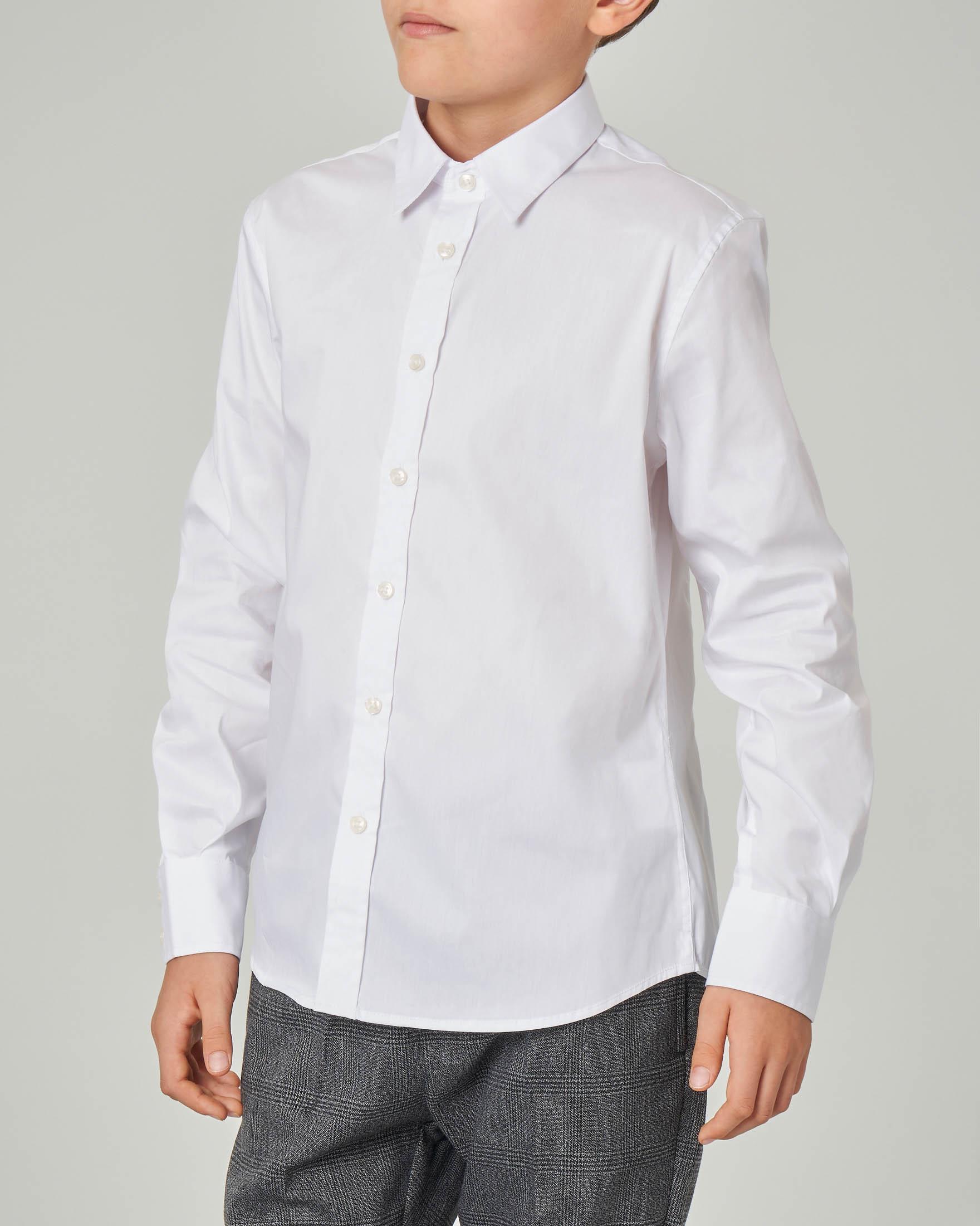 Camicia bianca in cotone stretch 8-16 anni