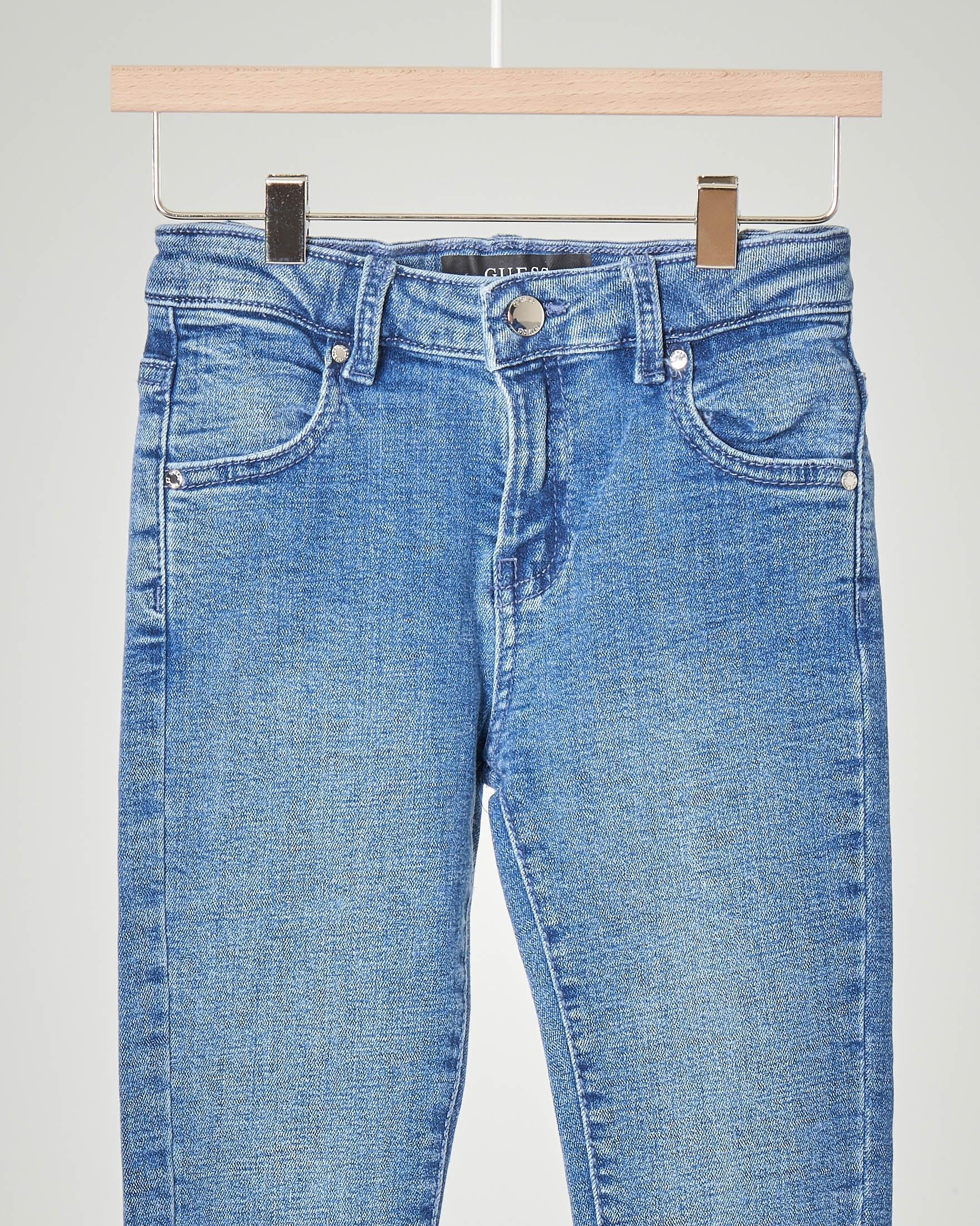 Jeans lavaggio chiaro in cotone elasticizzato 3-6 anni