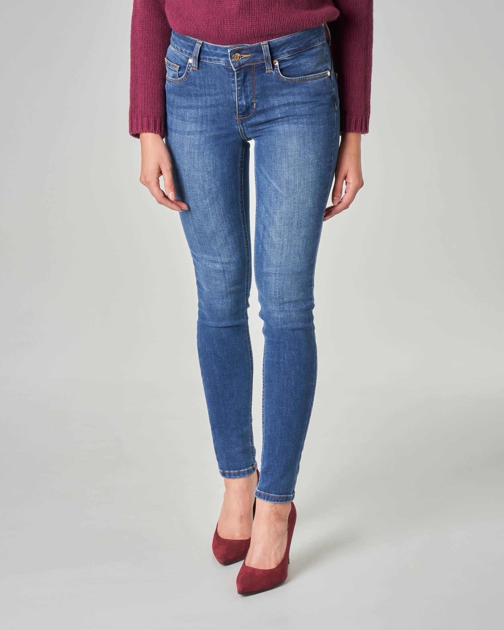 Jeans skinny Amazing fit blu super stone washed