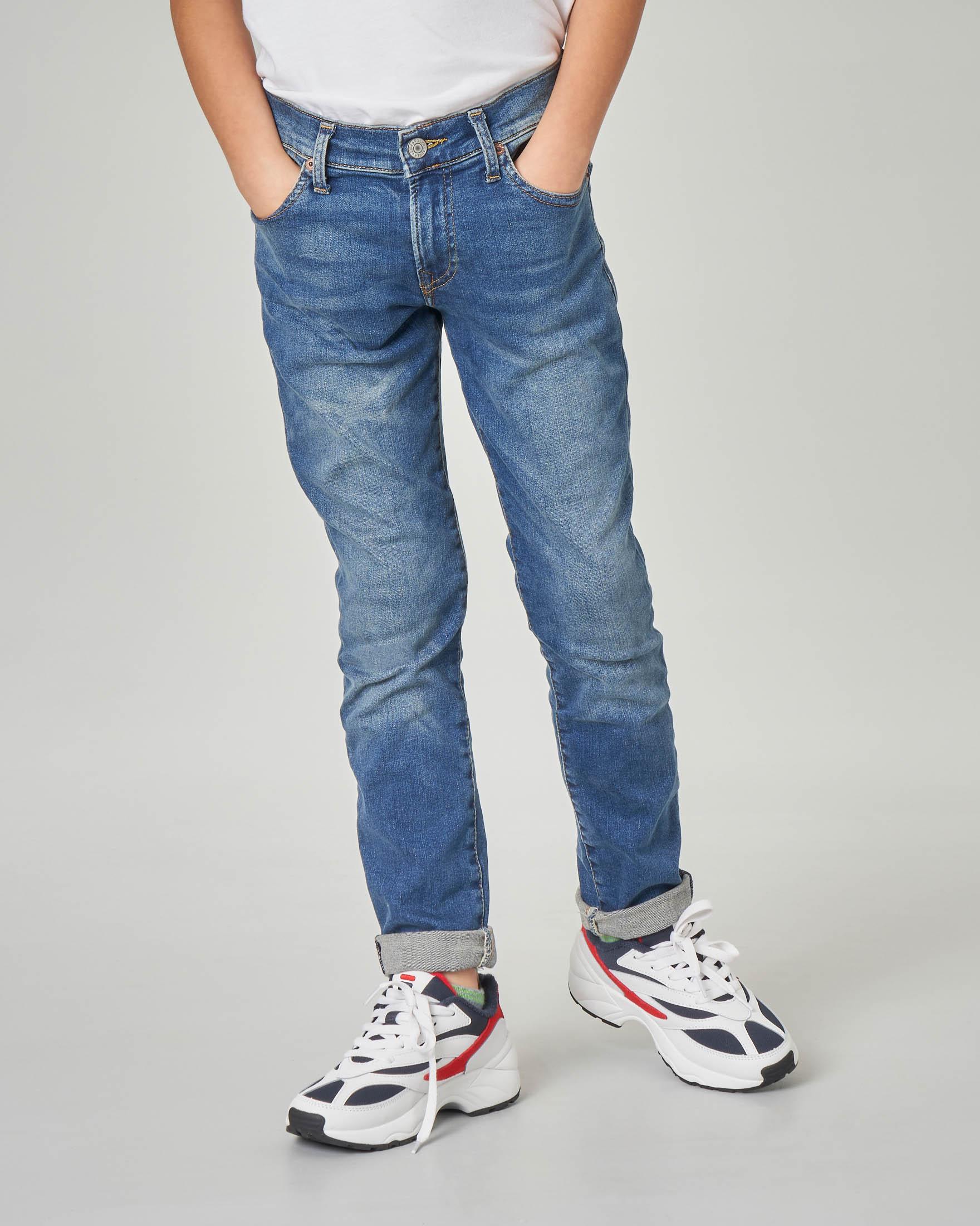 Jeans skinny lavaggio medio stone wash 8-16 anni