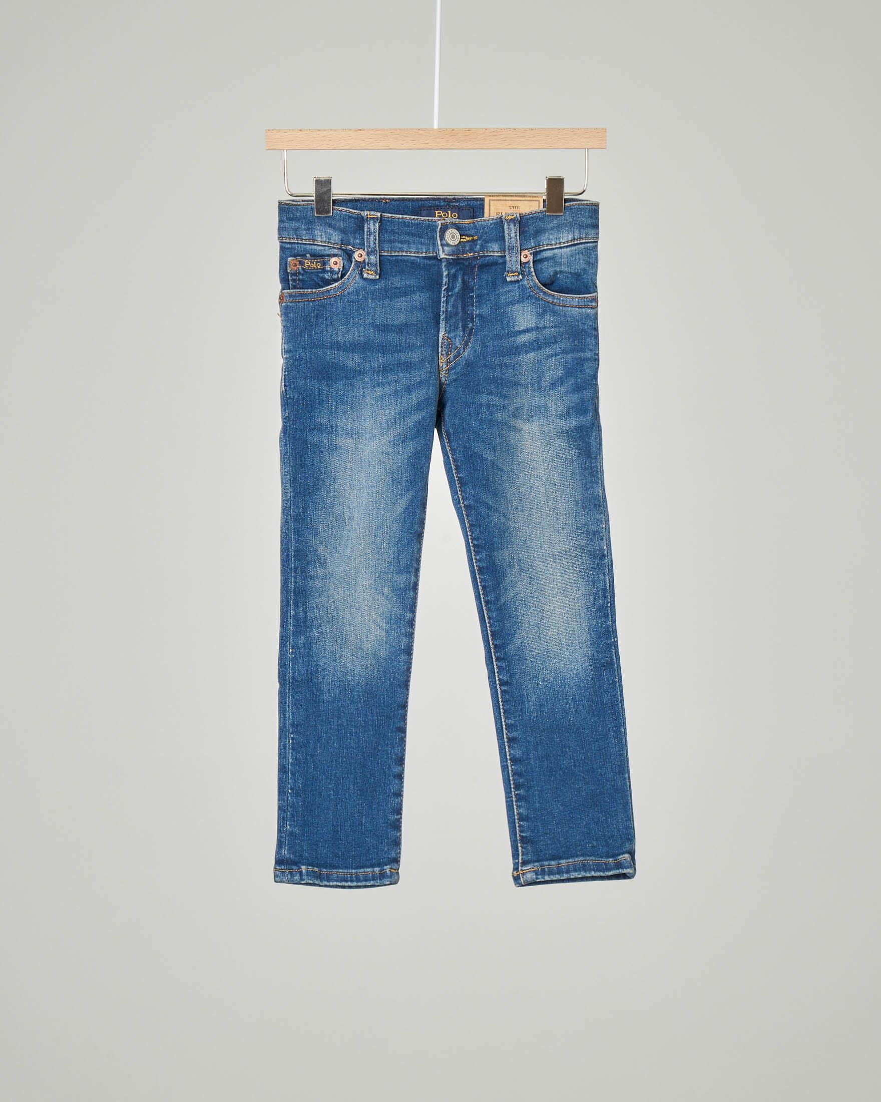 Jeans skinny lavaggio medio stone wash 2-6 anni