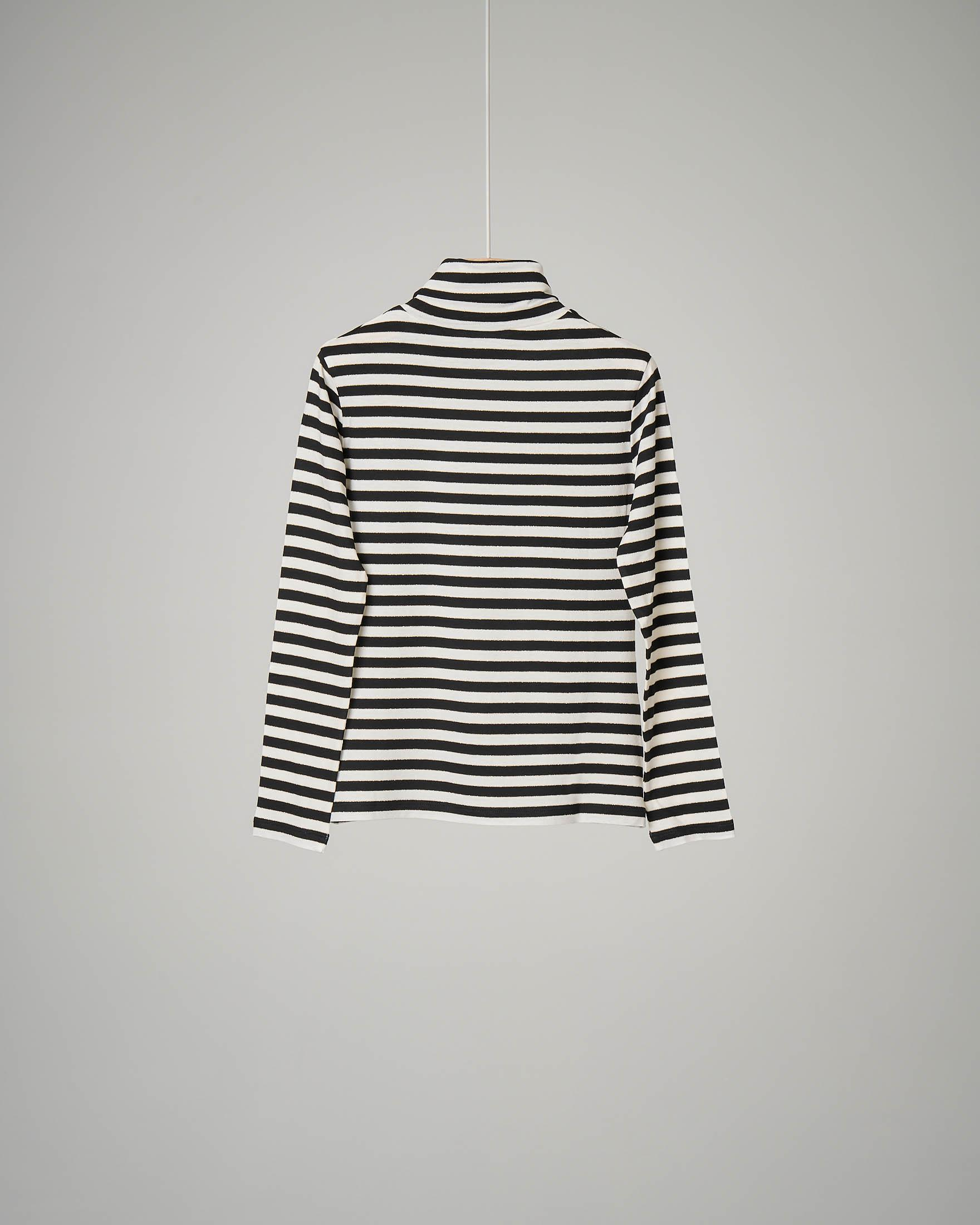 Ritenere marchio Artistico  T-shirt a righe bianche e nere con collo alto 32-36 | Pellizzari E-commerce