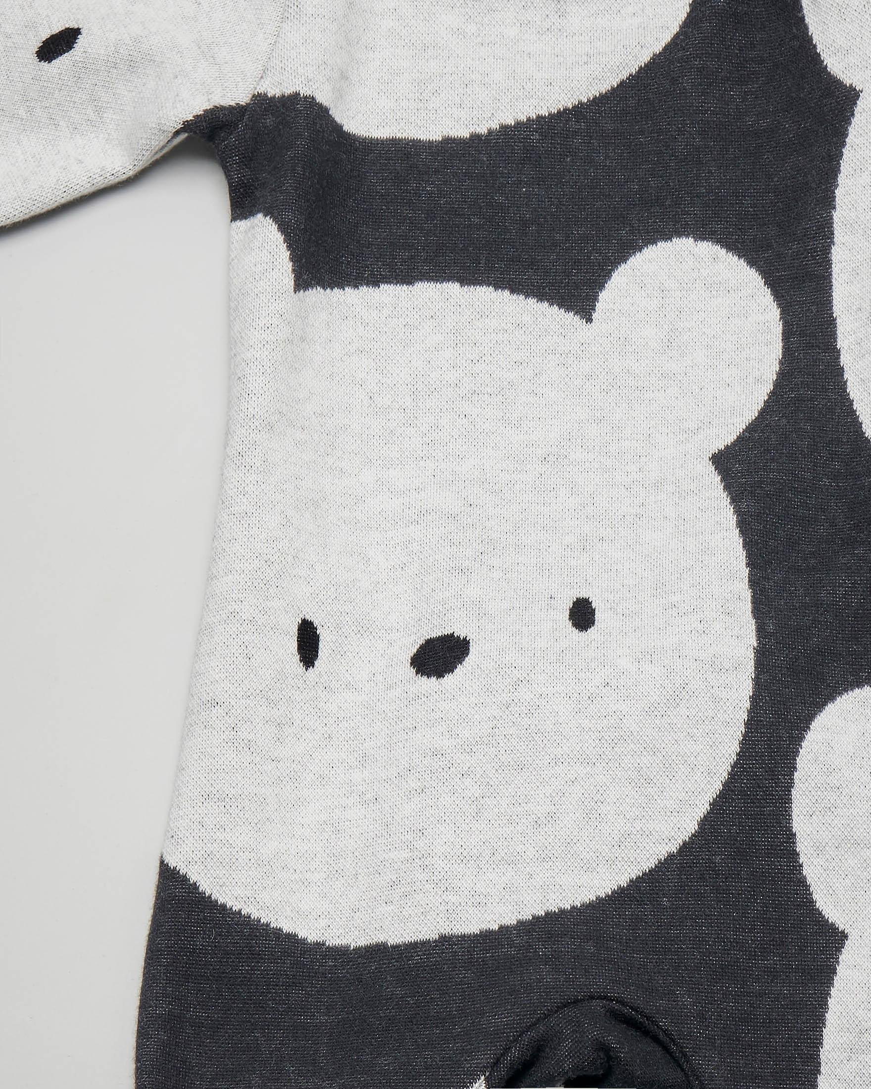 Tutina grigio antracite con stampa orsetti all over 6-9 mesi