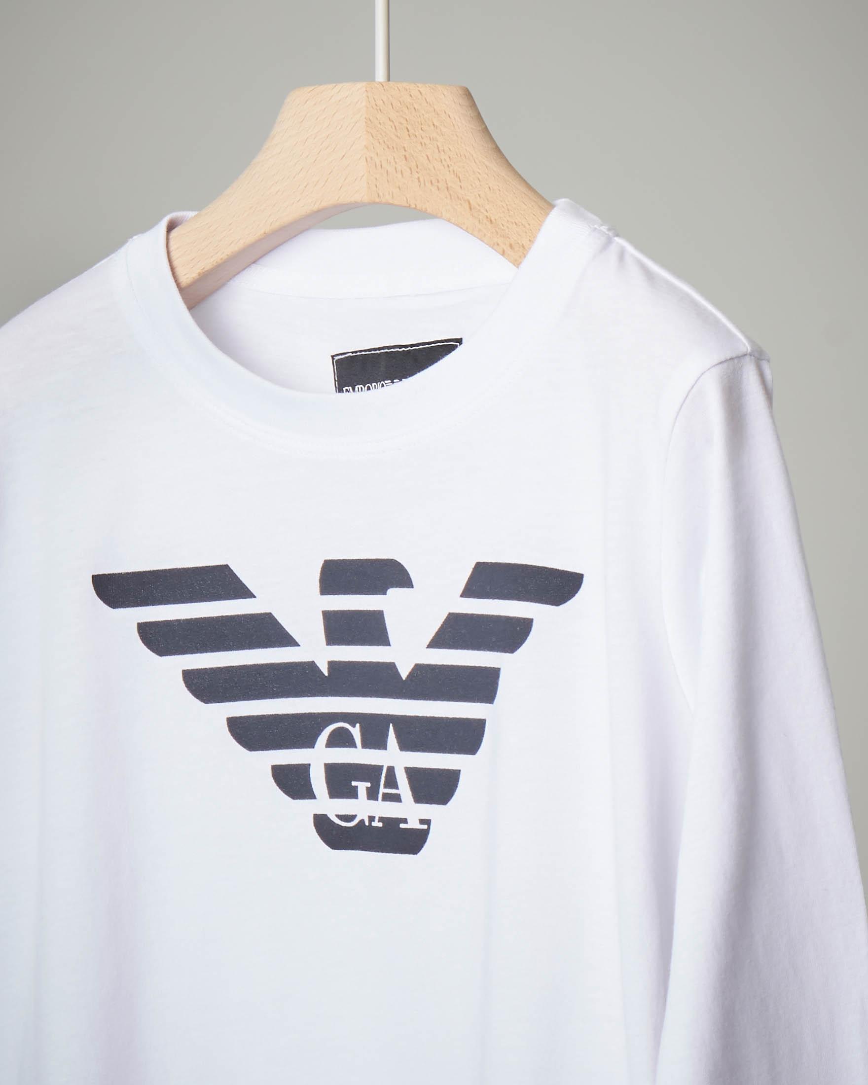 T-shirt bianca a manica lunga 4-6 anni