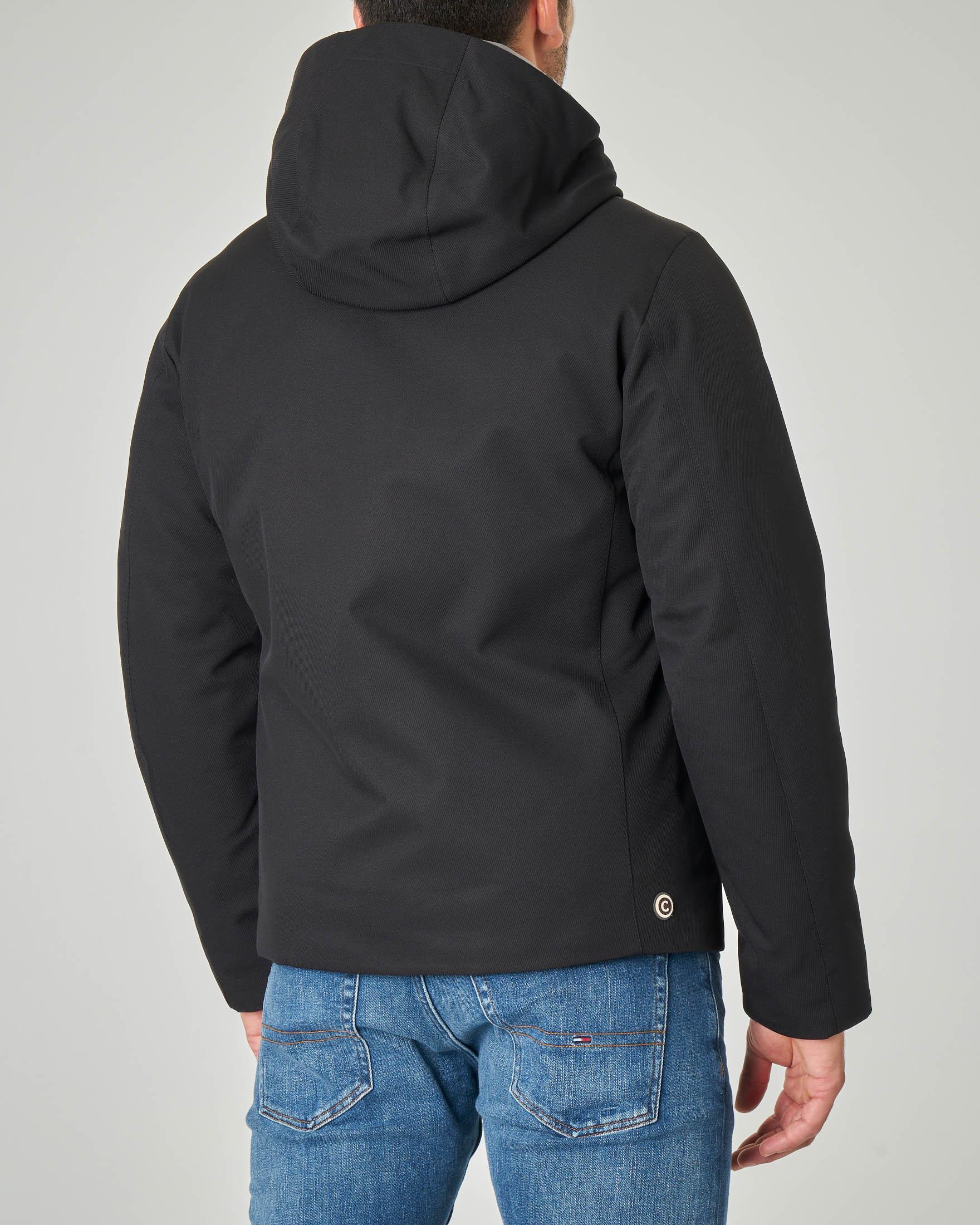 Colmar originals giacca effetto lana imbottita in piuma blu