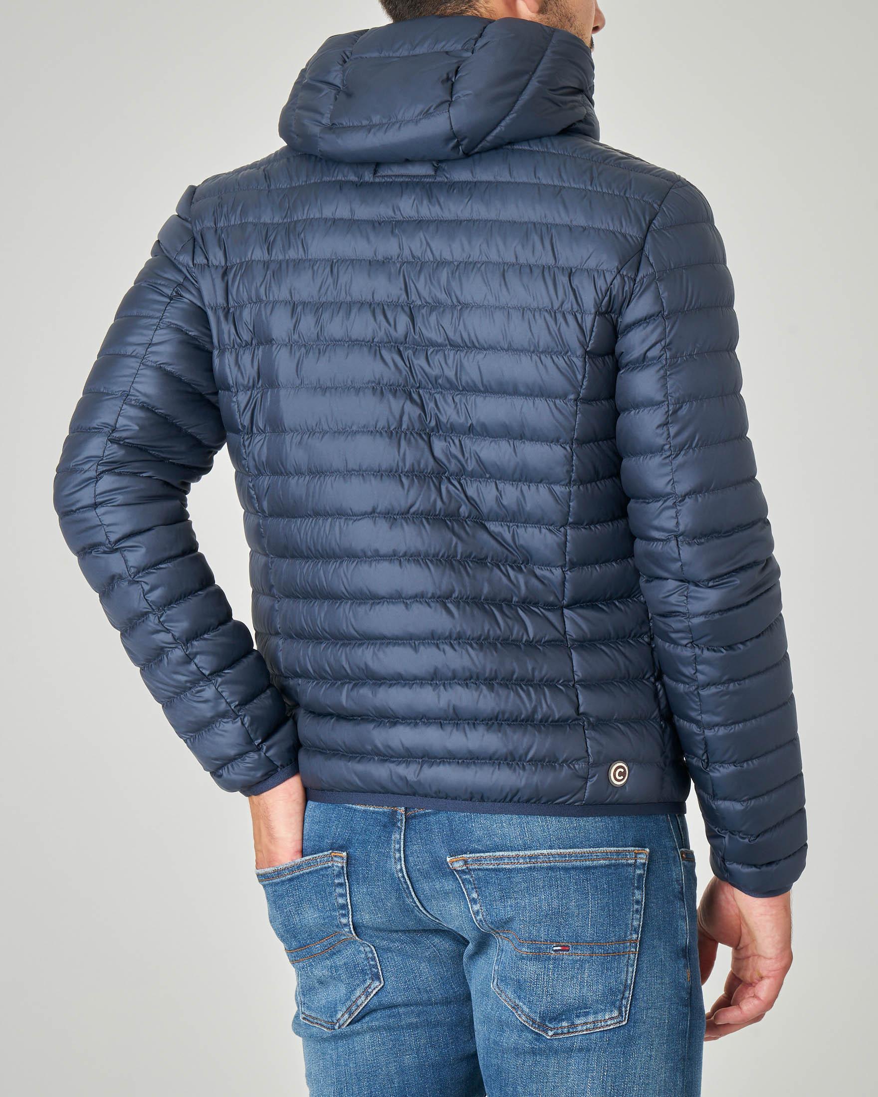 Piumino blu leggero con cappuccio fisso | Pellizzari E commerce