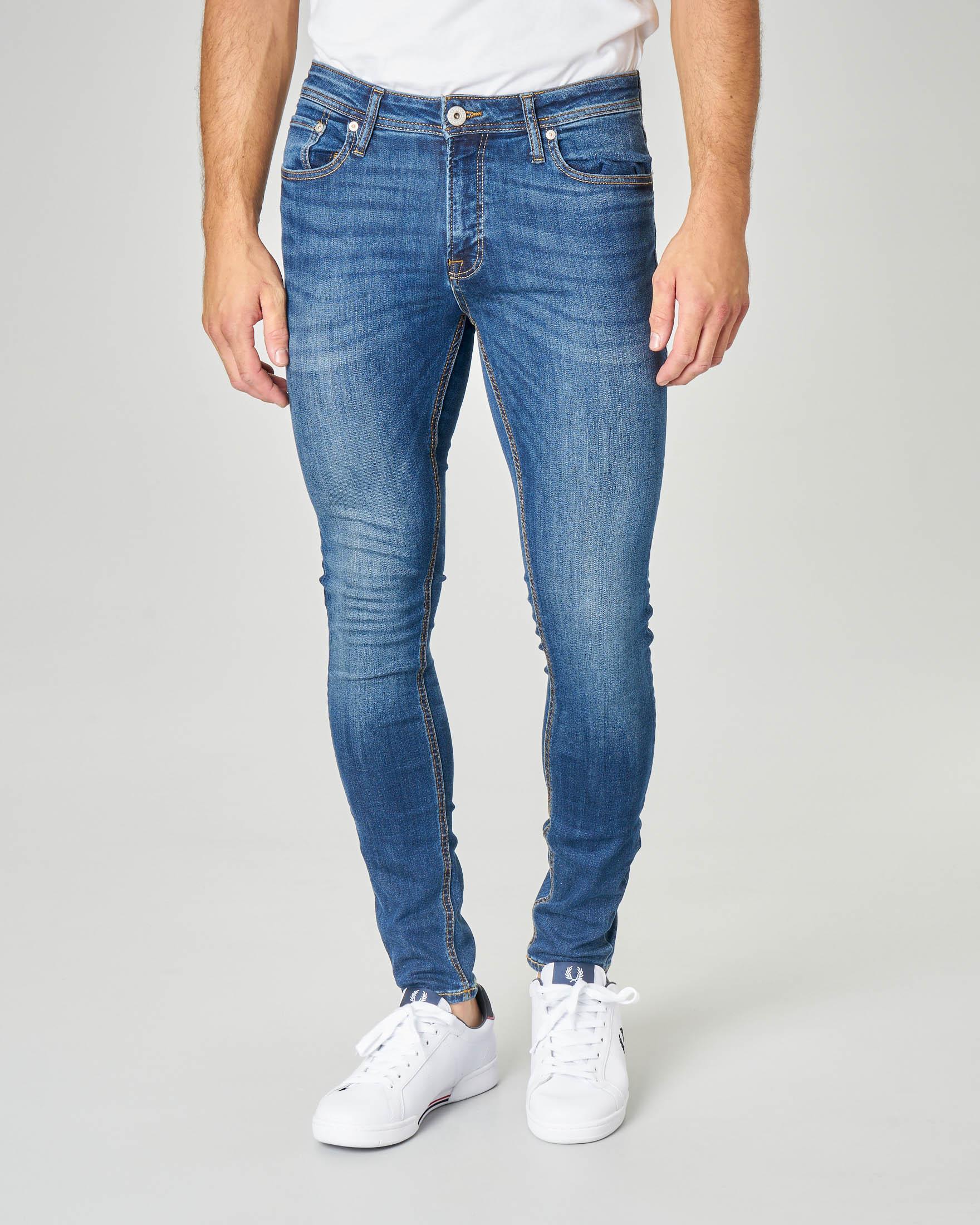 Jeans Liam lavaggio stone wash vestibilità skinny