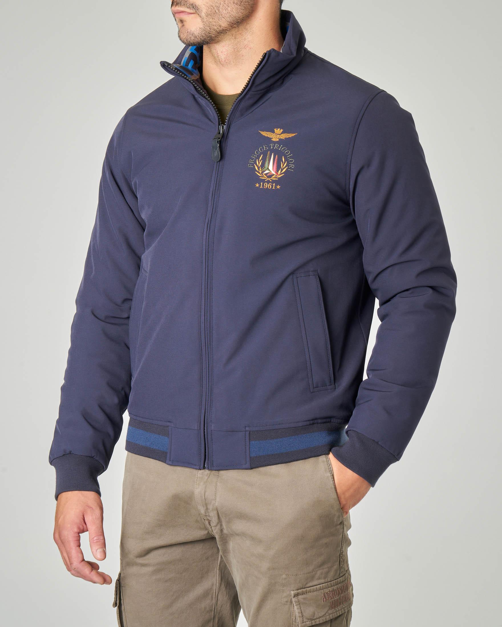 Giacca sailor blu in tessuto stretch