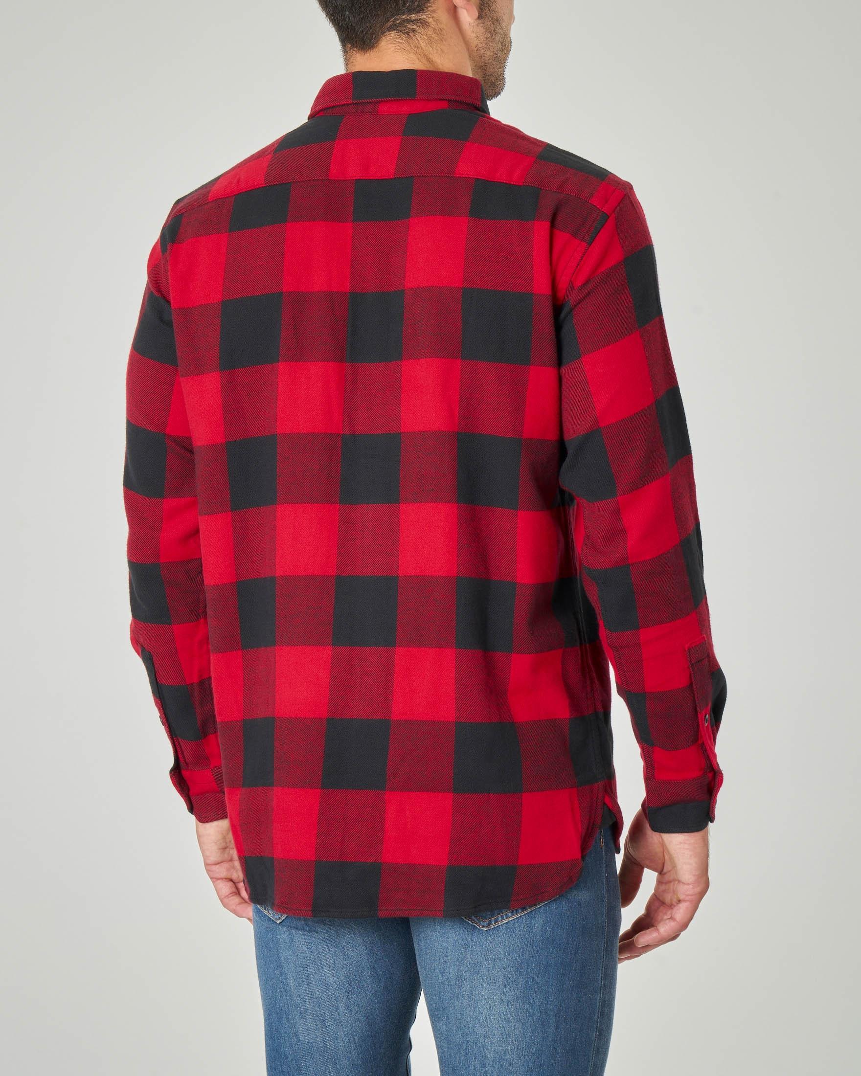 Camicia buffalo check in caldo cotone elasticizzato