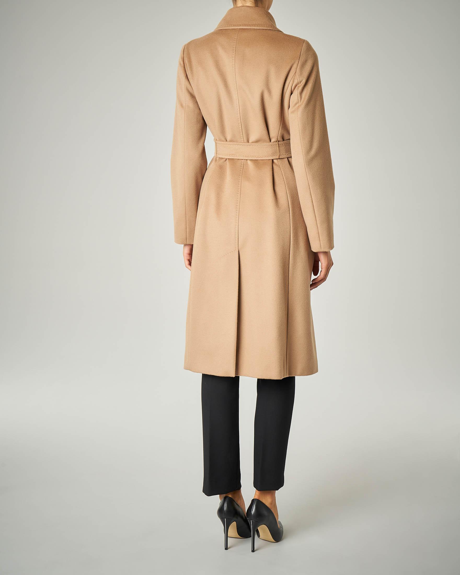 Cappotto con cintura Cammello | Benetton