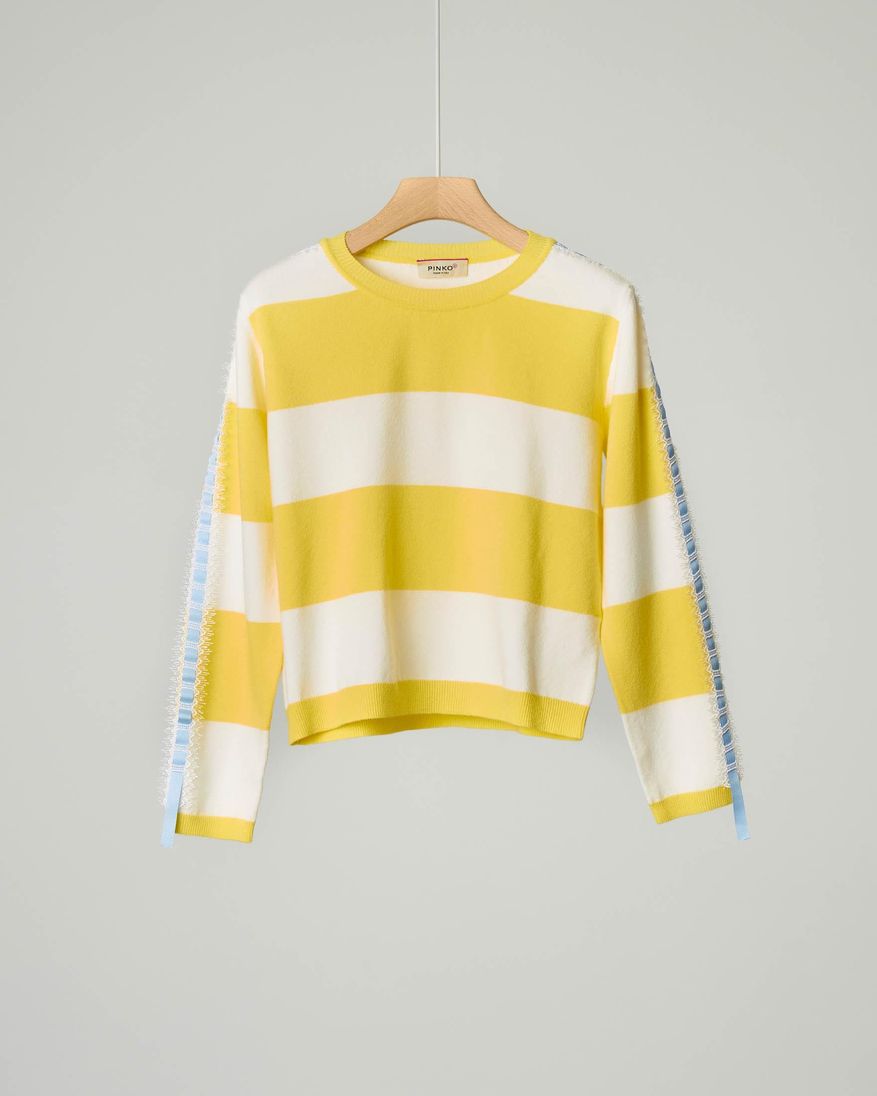 Maglia righe giallo/bianco