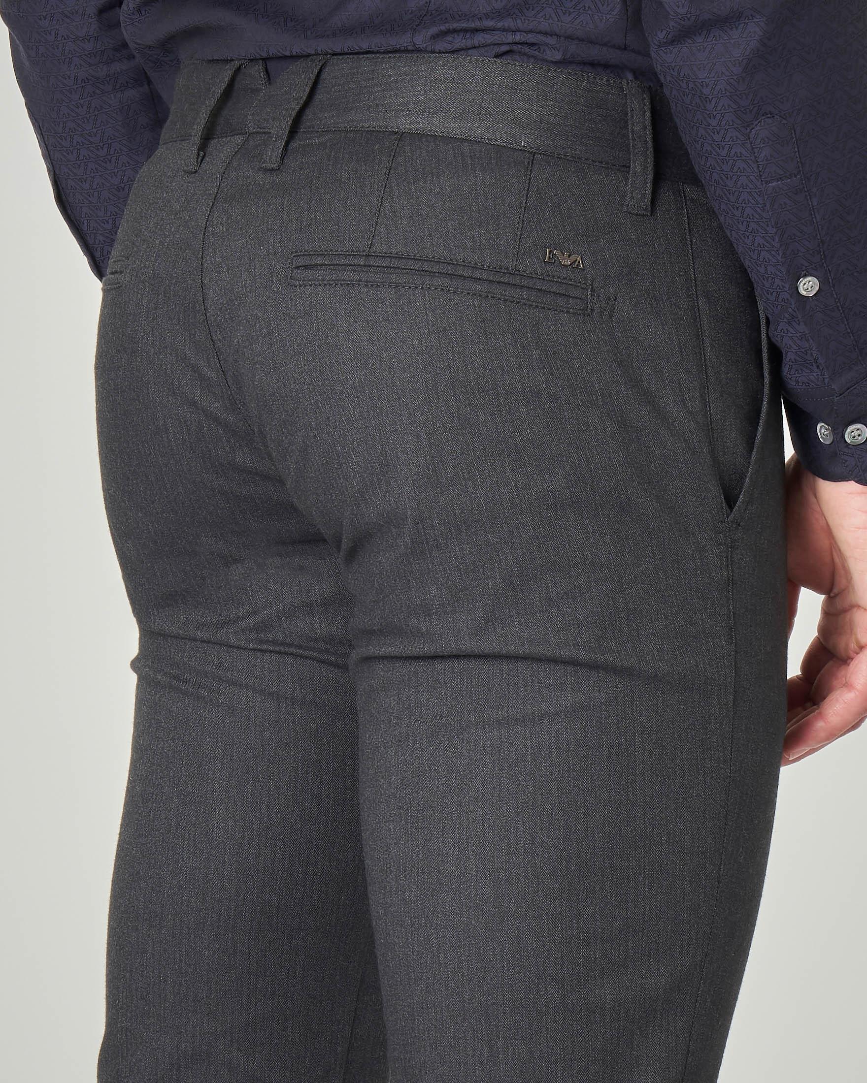 Pantalone chino tasca america grigio antracite