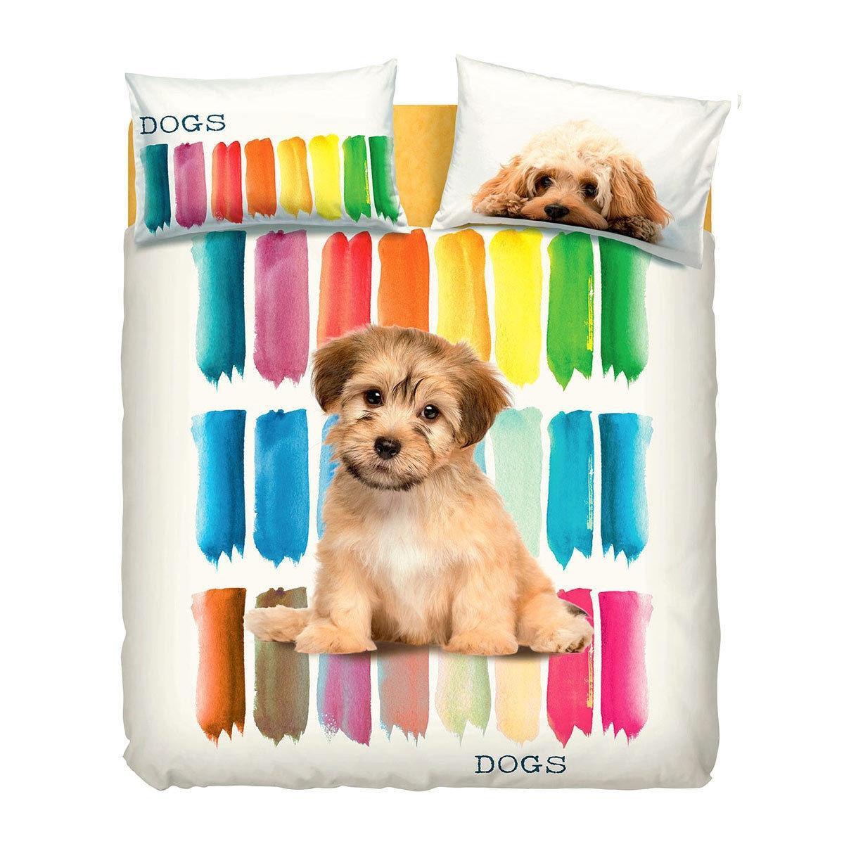 Copripiumino Matrimoniale Bassetti New York.Completo Copripiumino Bassetti Matrimoniale Color Dogs