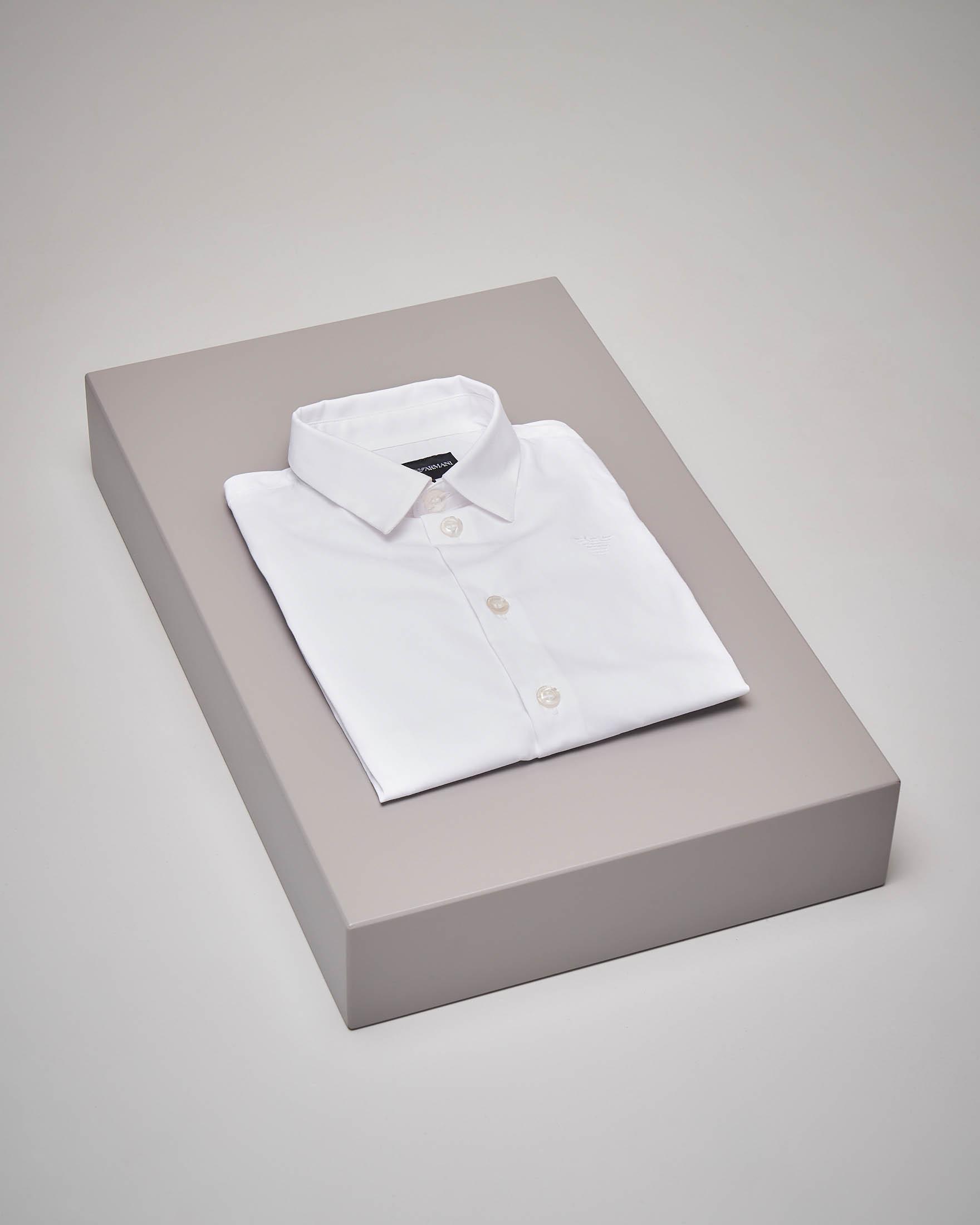 Camicia bianca manica lunga 4-8