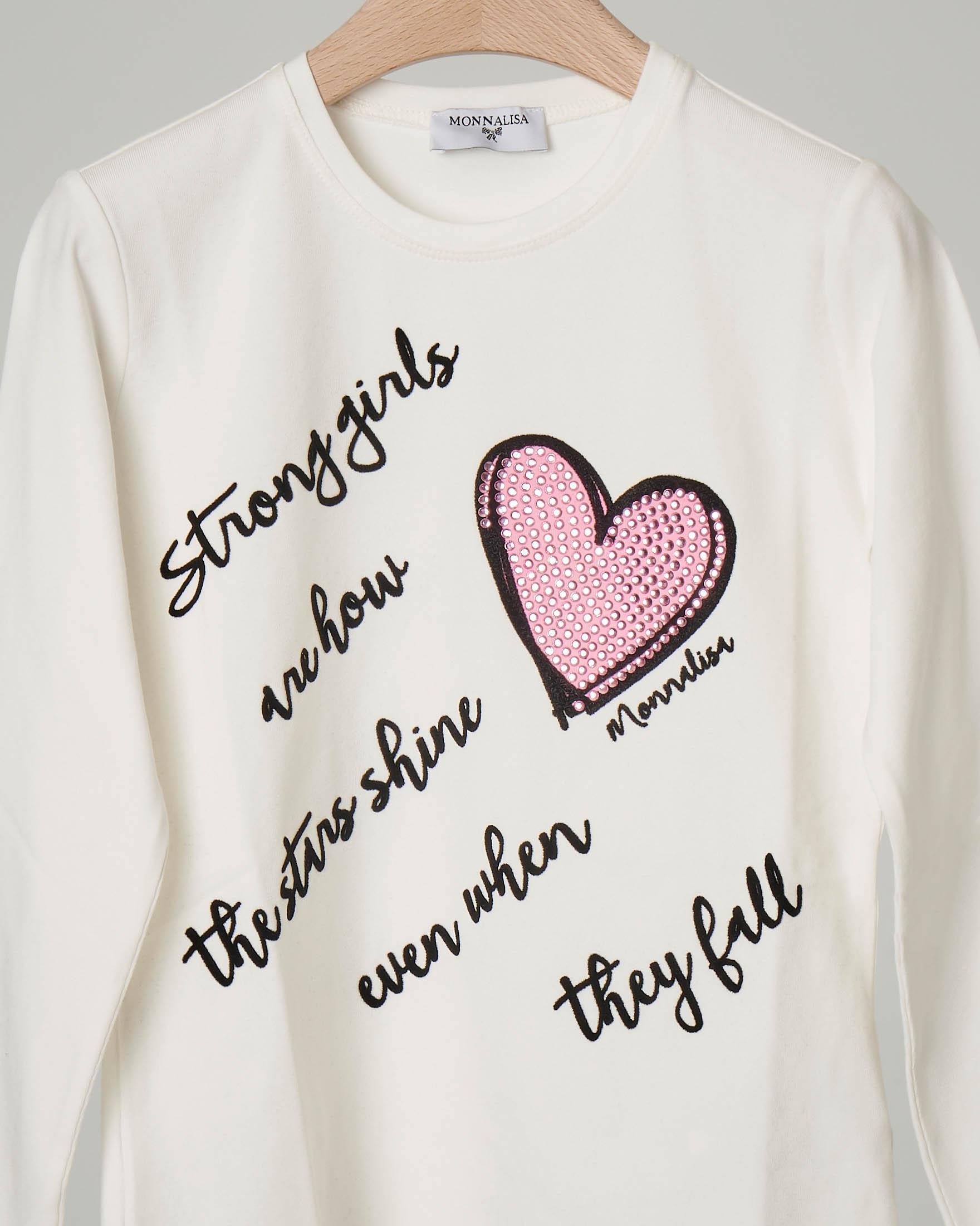 Italily Lady Love Stampa Maglietta a Maniche Lunghe T-Shirt da Donna a Maniche Lunghe con Stampa a Cuore