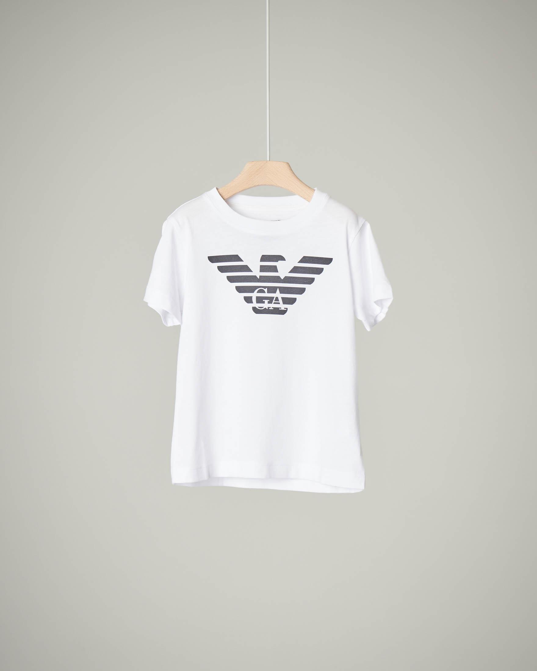 T-shirt bianca a manica corta 4-8 anni