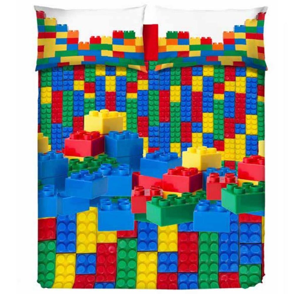 Copripiumino Singolo Misure.Copripiumini Mattoncini Lego Copripiumino Bricks Regalo Natale