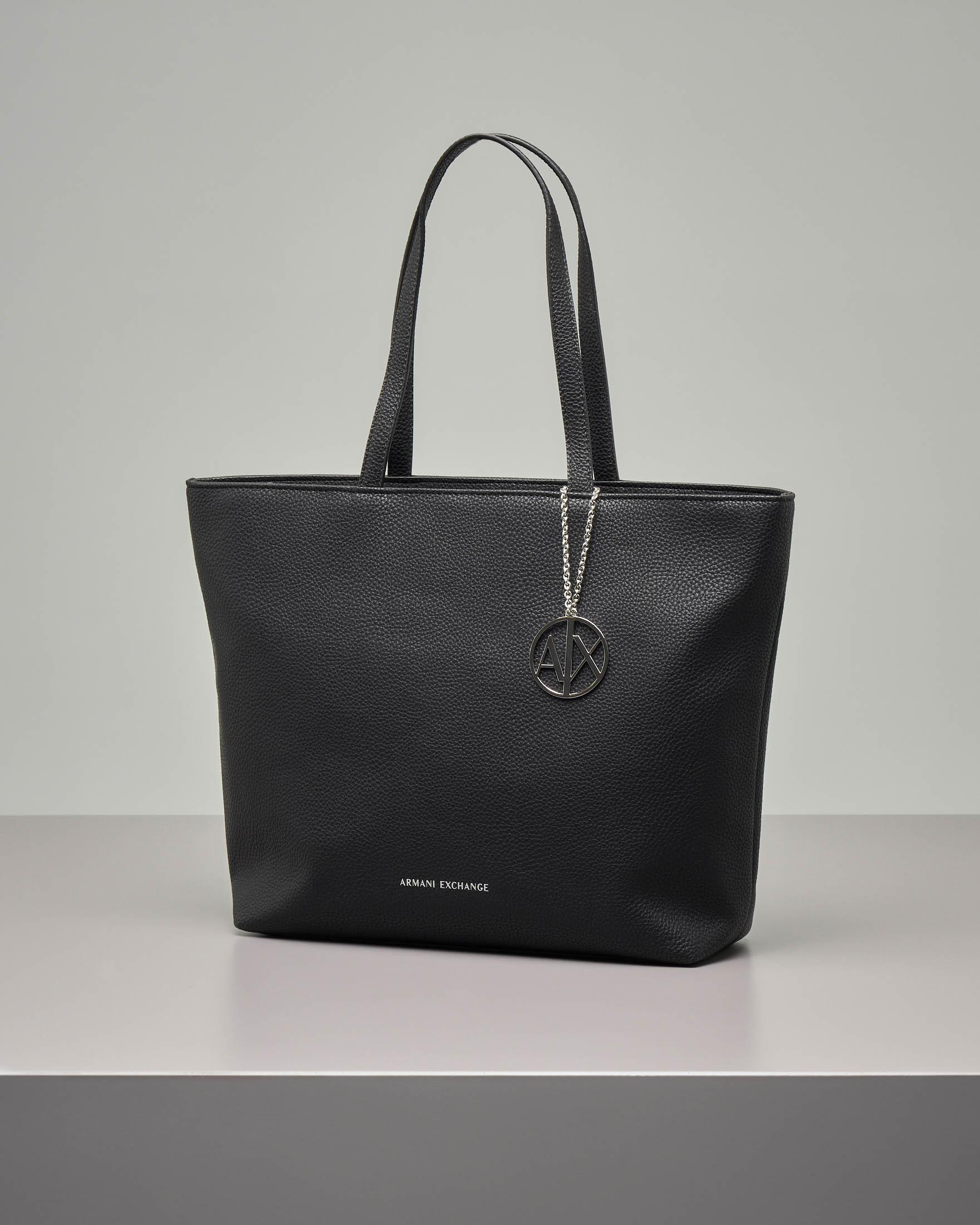 Shopping bag nera misura media