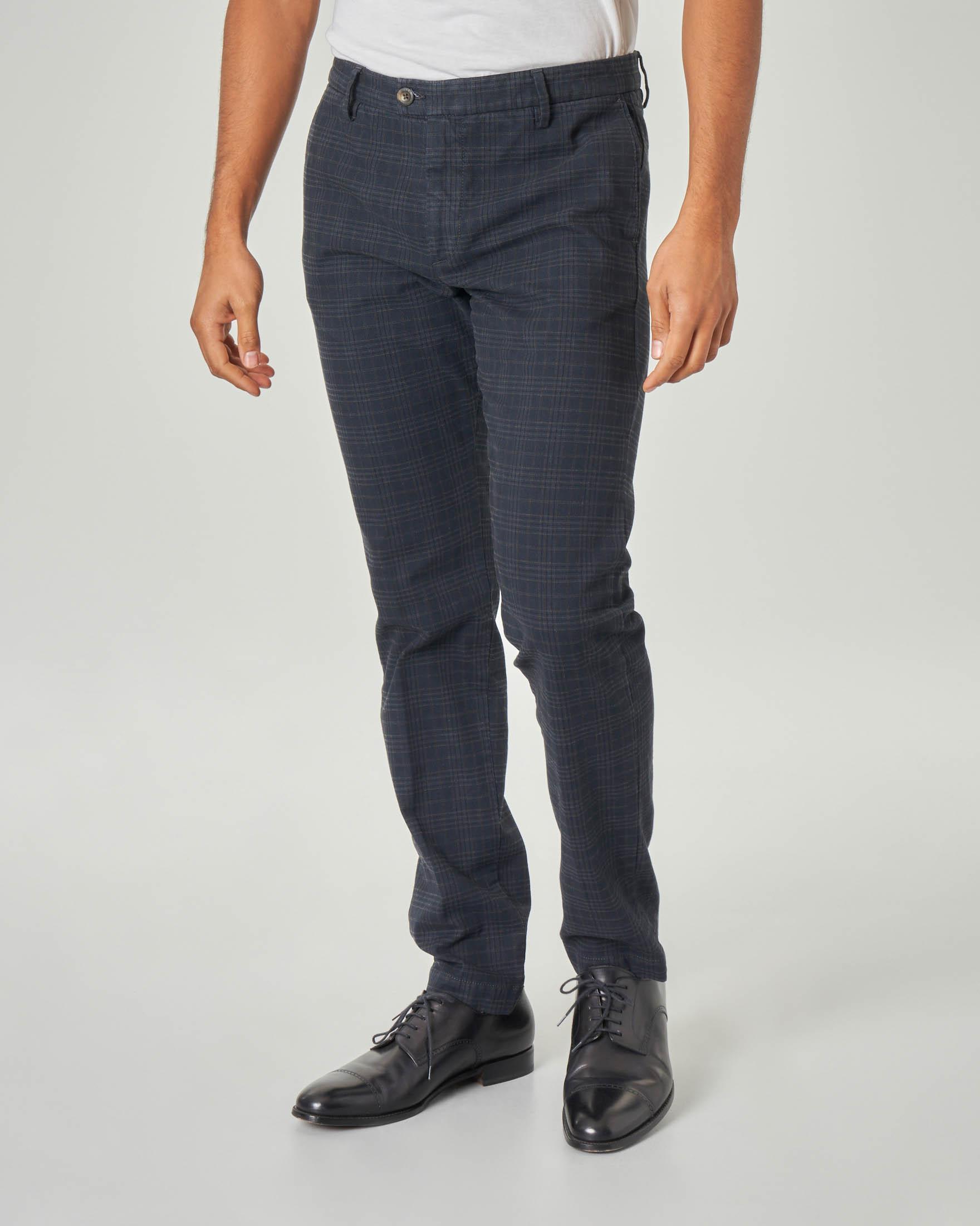 Pantalone chino blu principe di Galles