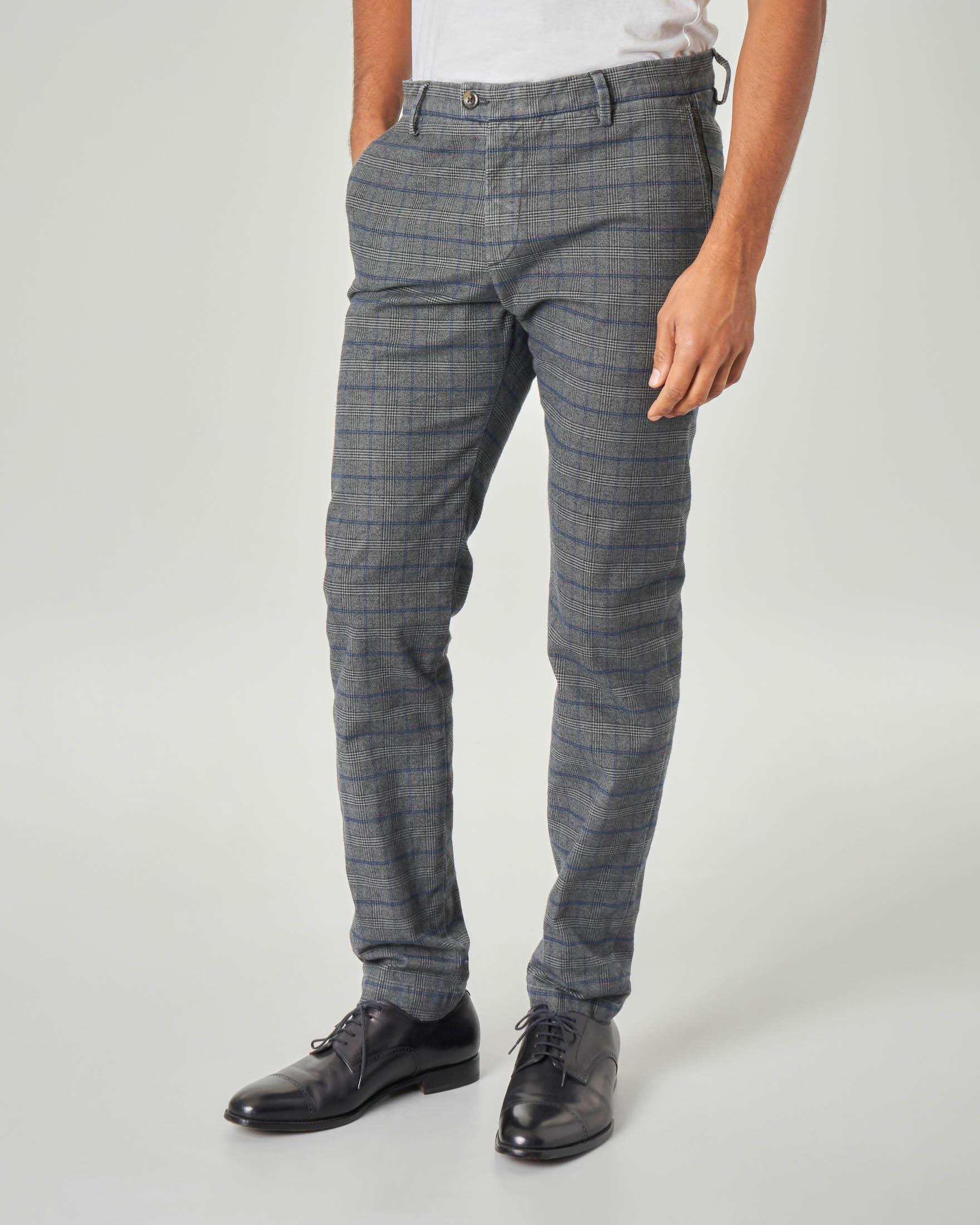 Pantalone chino grigio principe di Galles