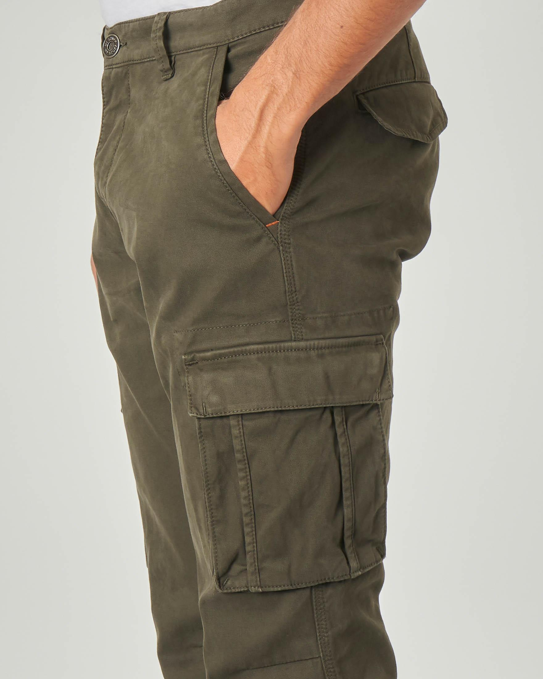 Pantalone tasconato verde militare | Pellizzari E commerce