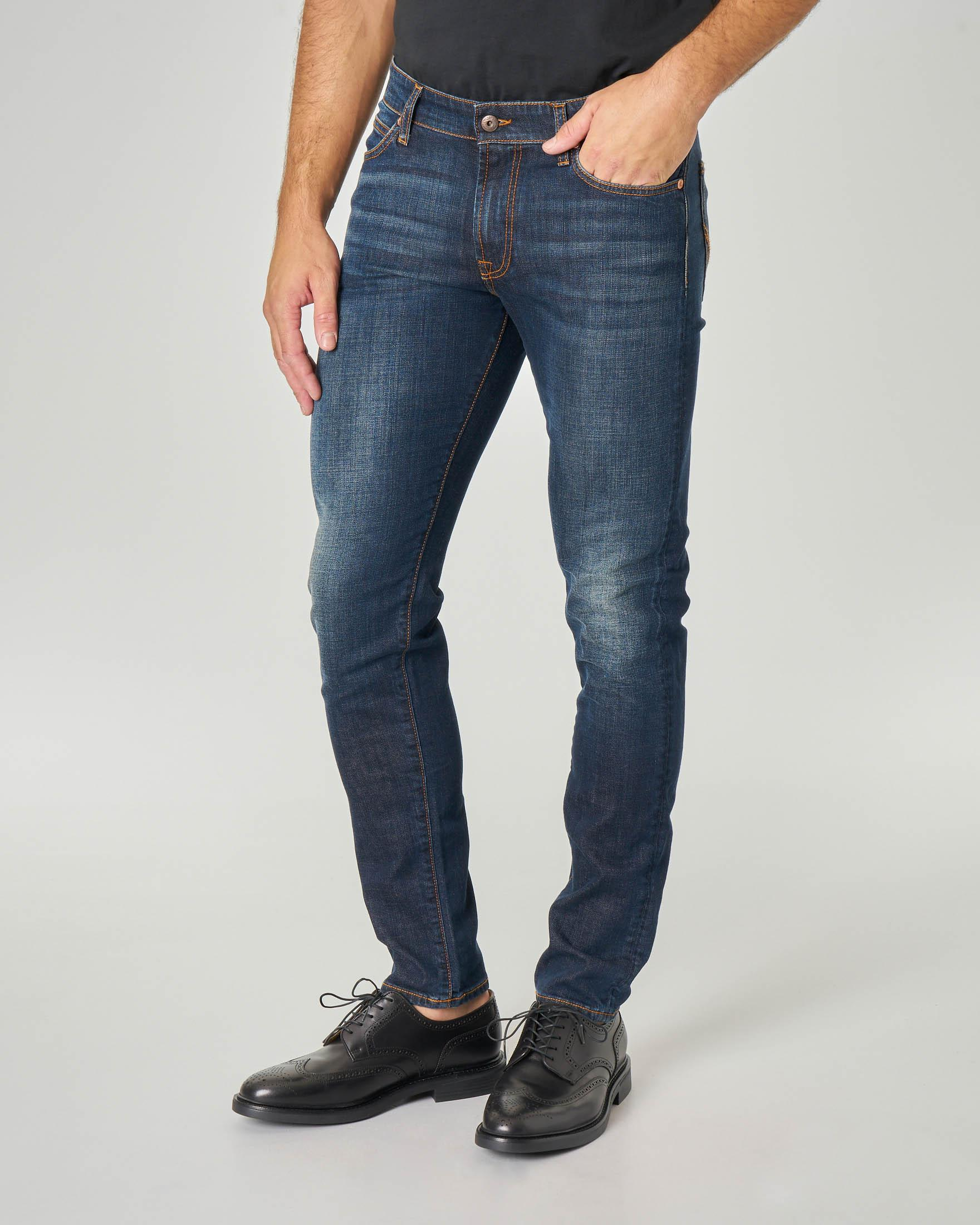 Jeans 517 Weared3 lavaggio blu scuro con sbiancature