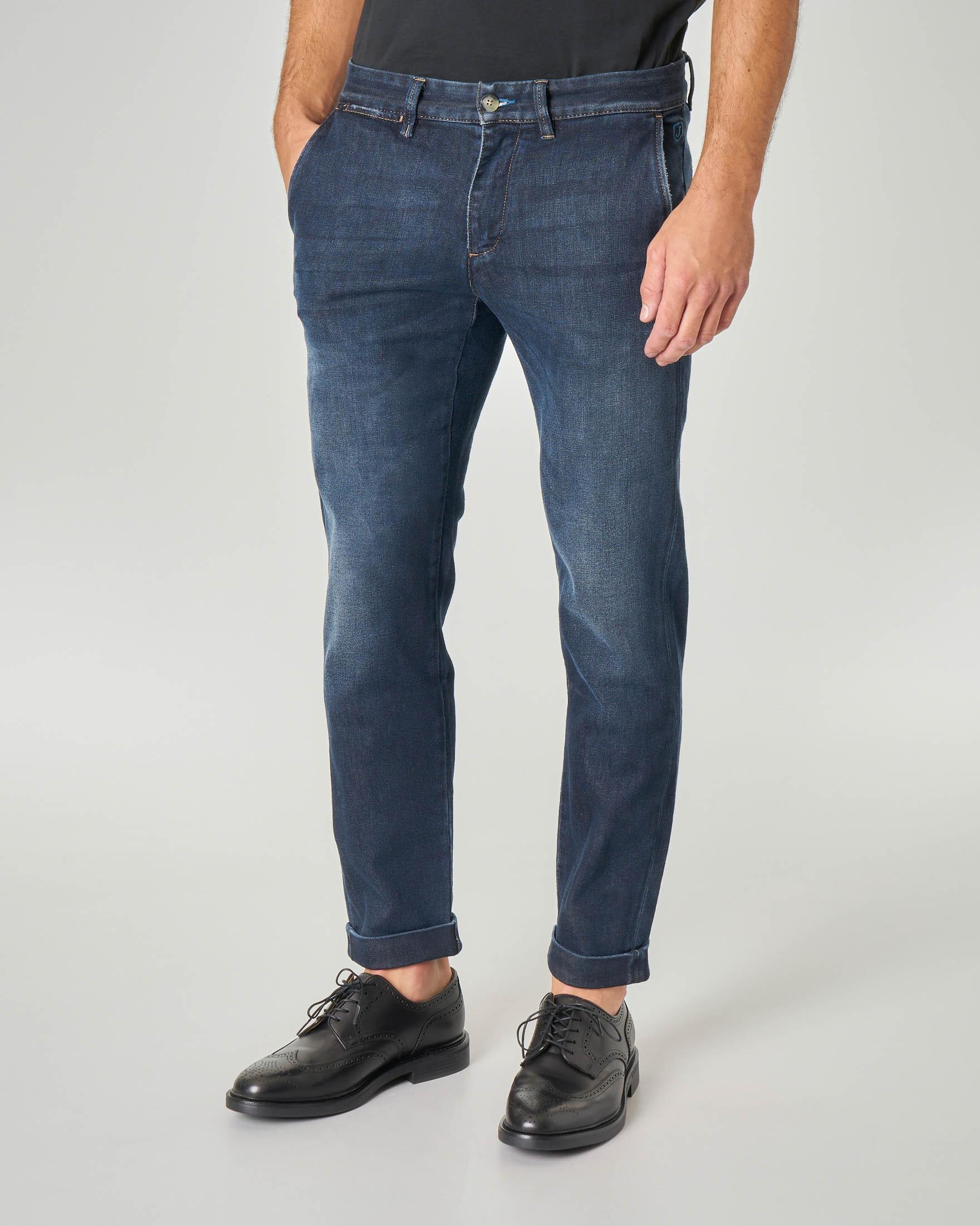 Jeans PA046 tasca america lavaggio blu scuro