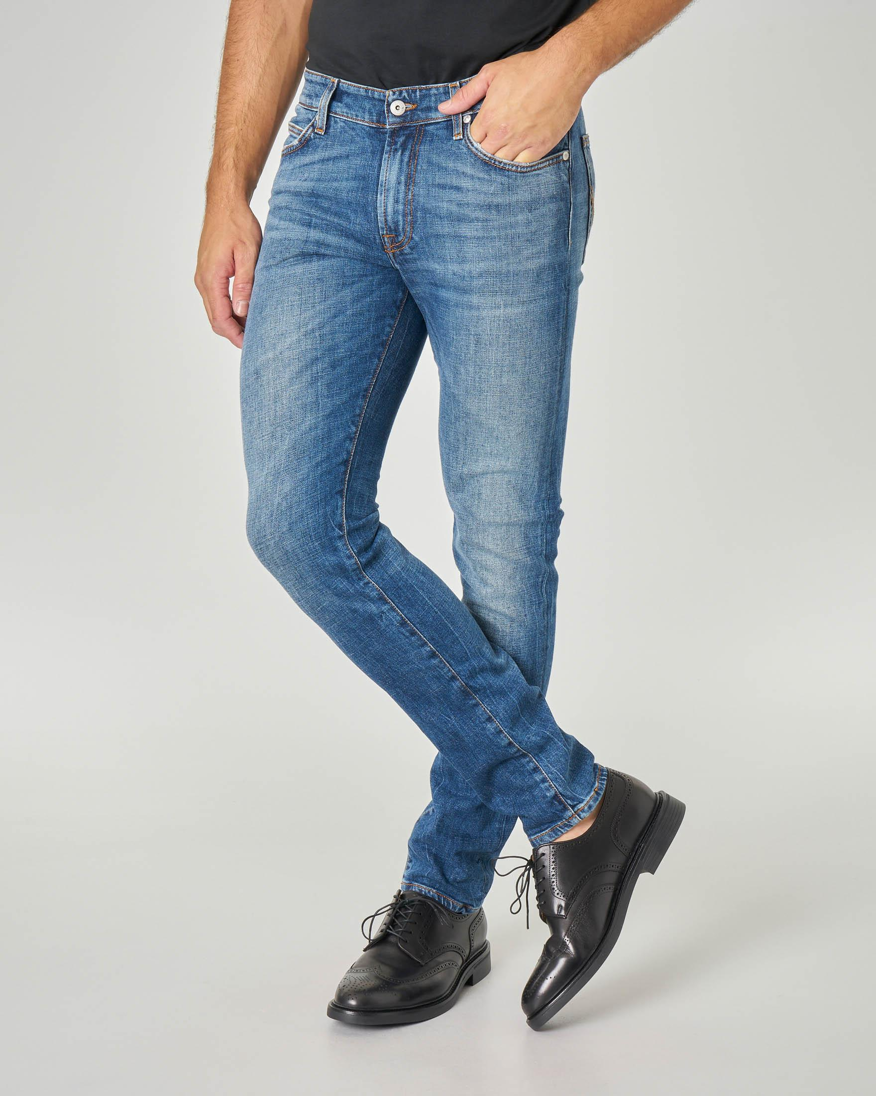 Jeans 517 Yovi lavaggio stone wash con sbiancature