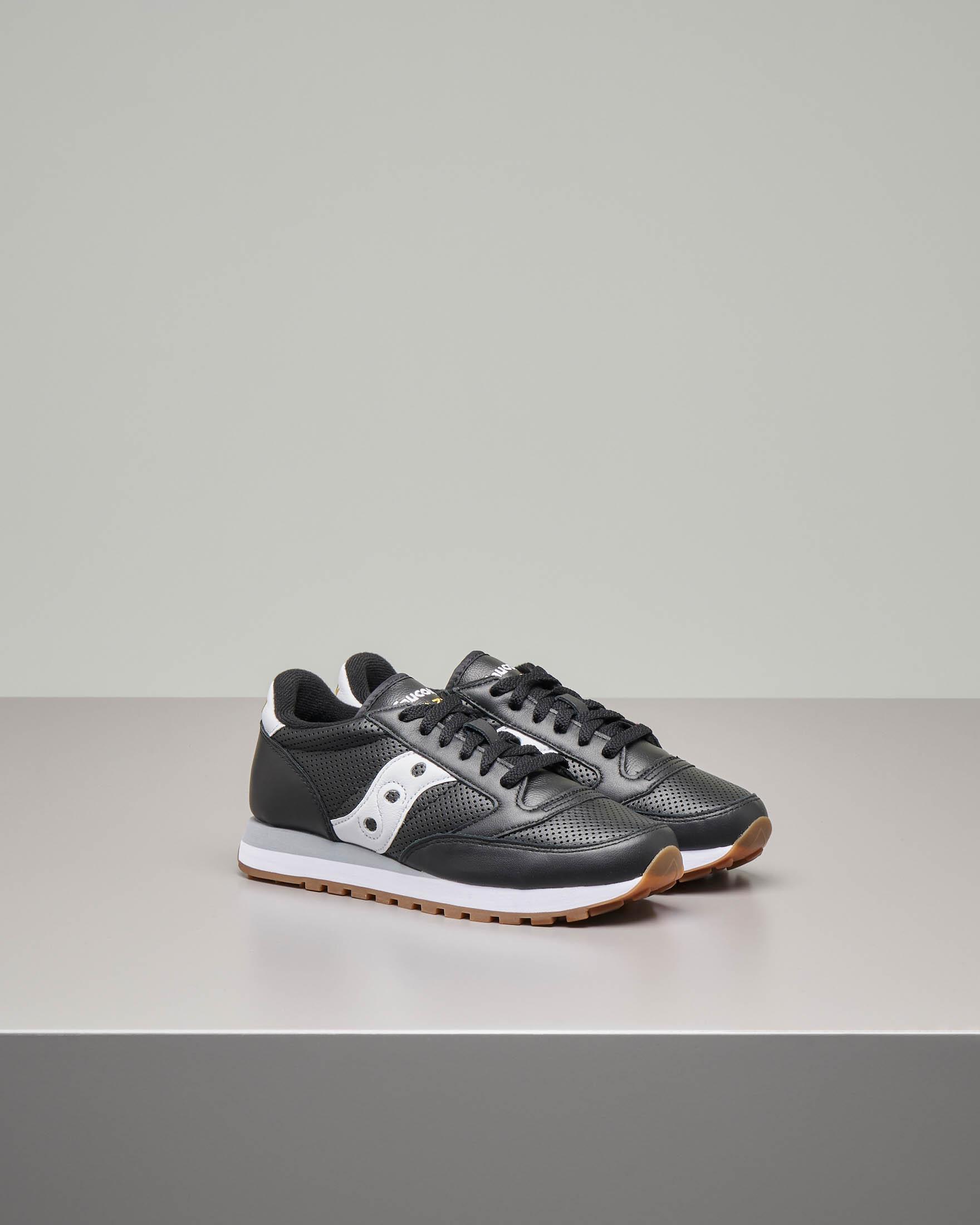 Sneakers Jazz O' in pelle nera