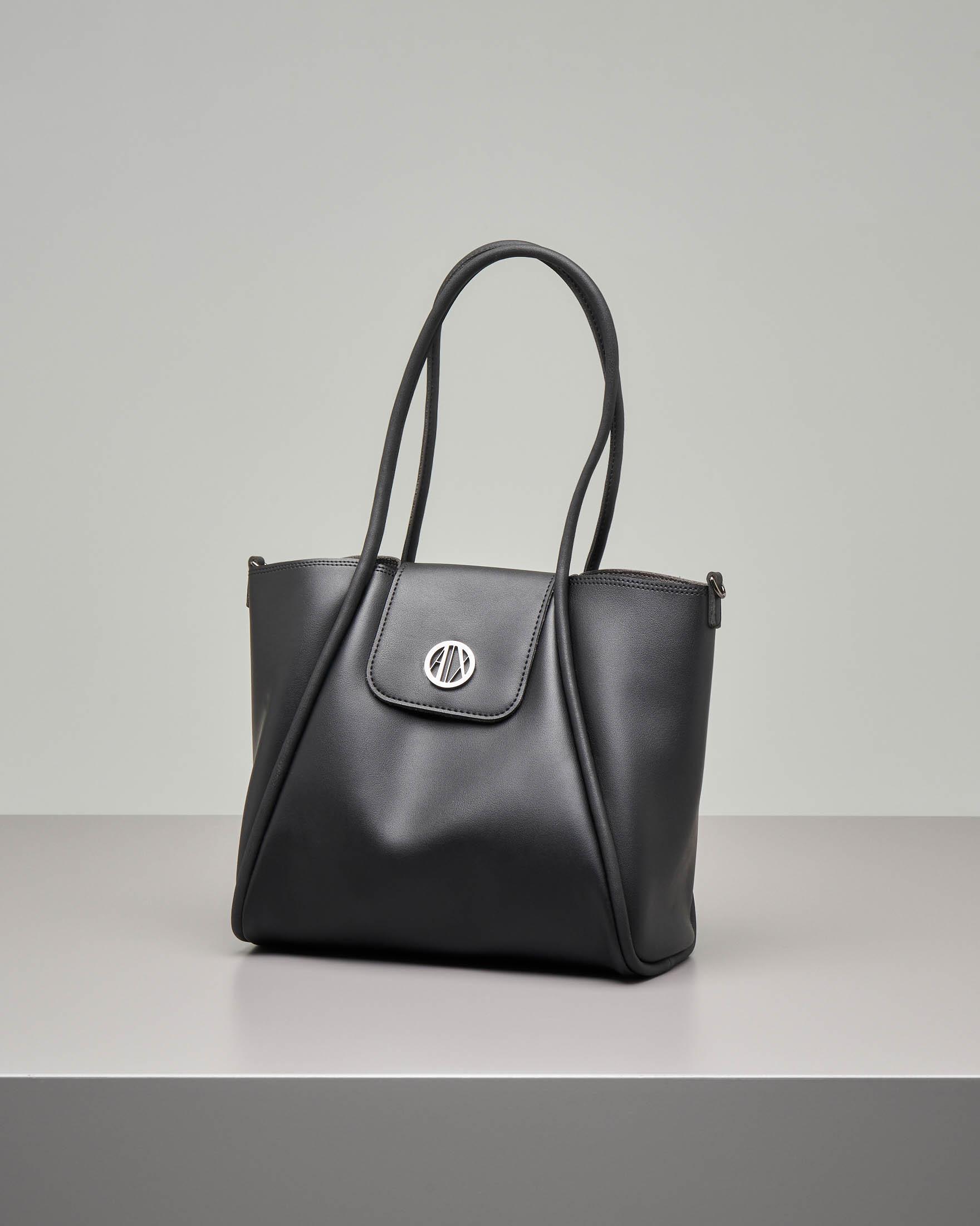 Shopping bag morbida nera misura piccola