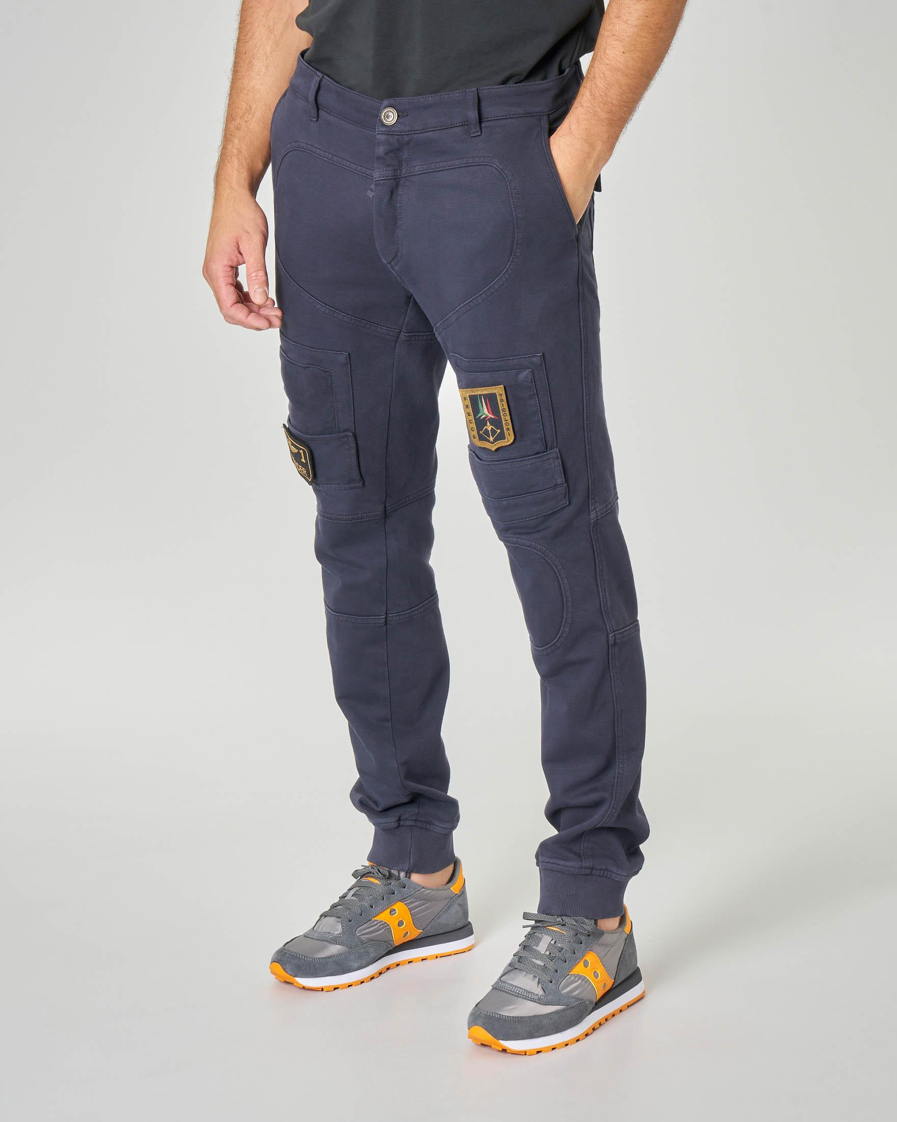 Pantalone Anti-G blu in felpa