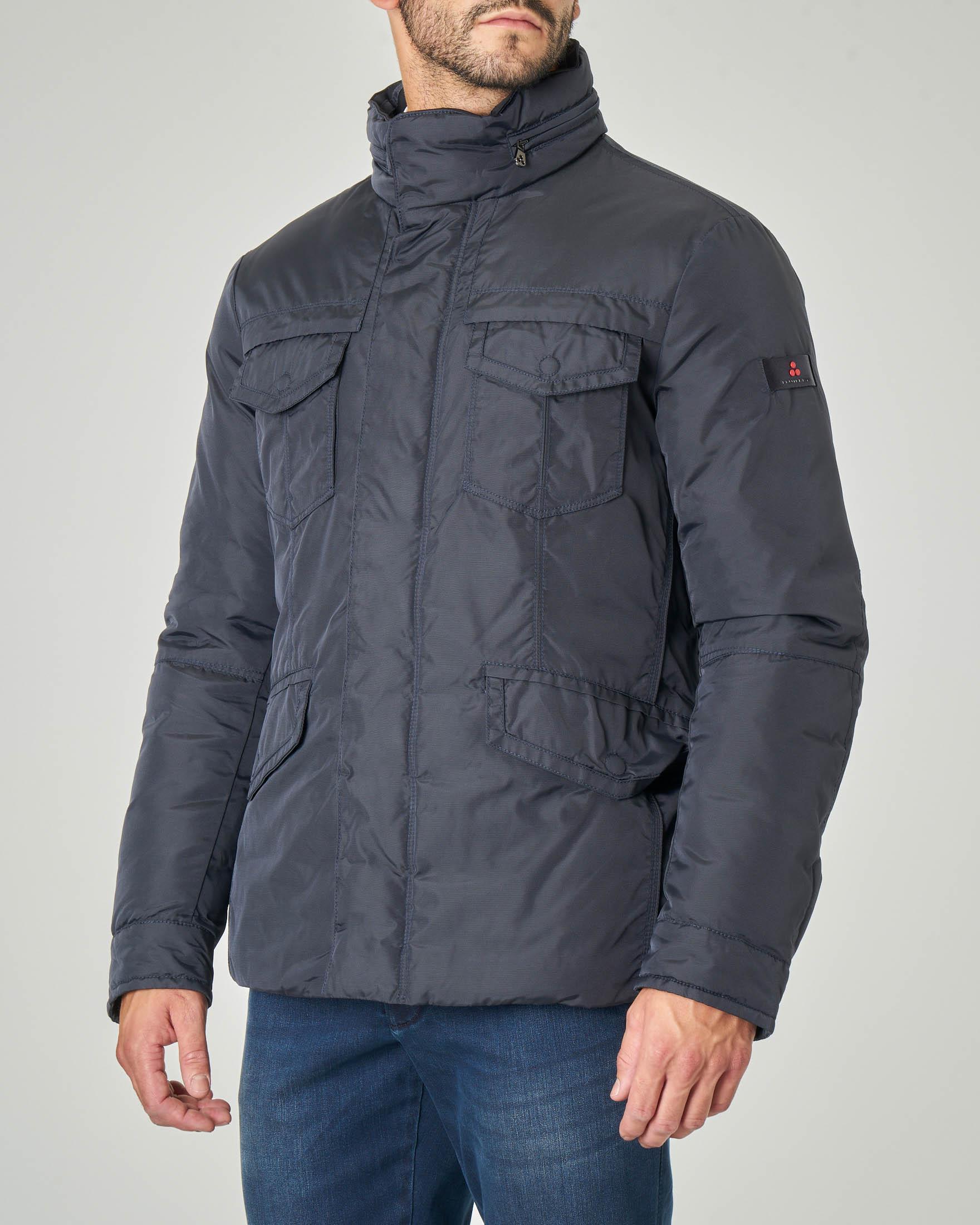 Field Jacket Stripes blu in tessuto oxford tecnico