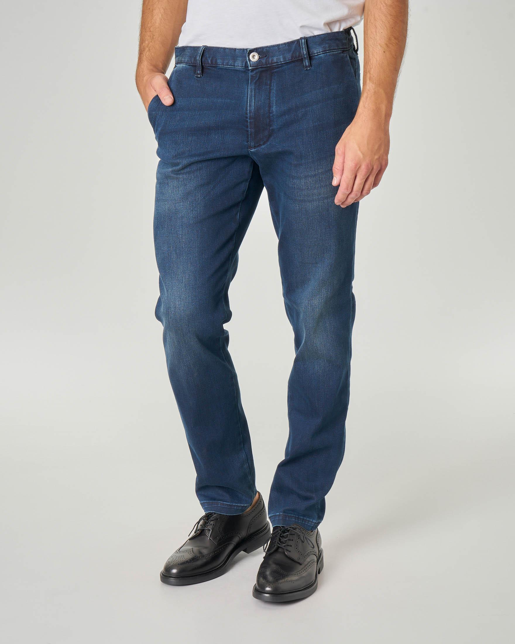 Jeans P10 tasca america lavaggio stone wash