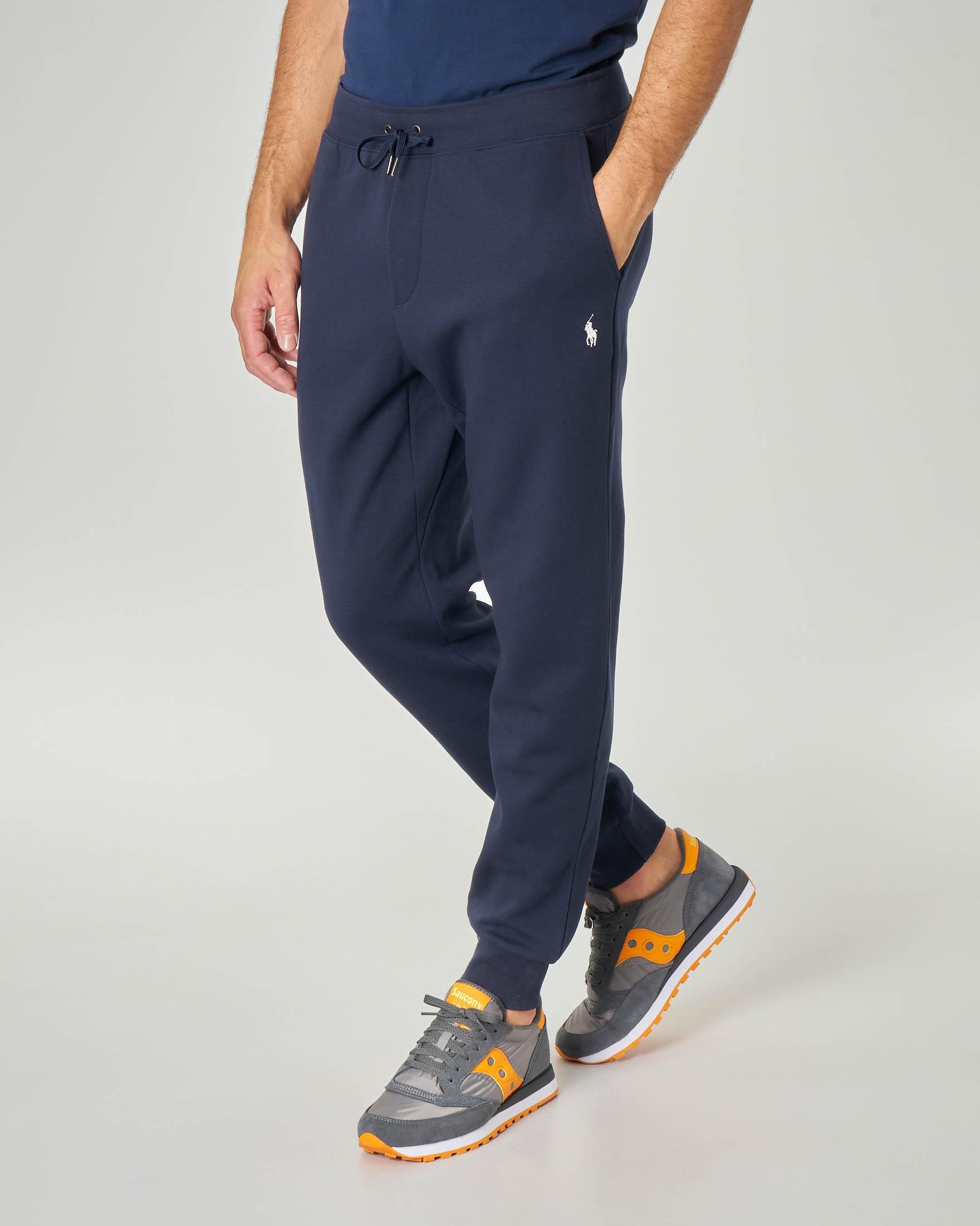 Pantalone in felpa blu con taschino
