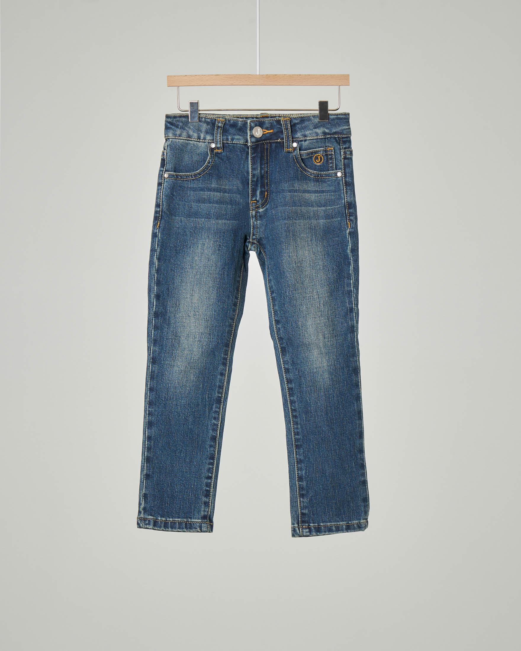 Jeans in cotone stretch lavaggio stone wash 3-7 anni